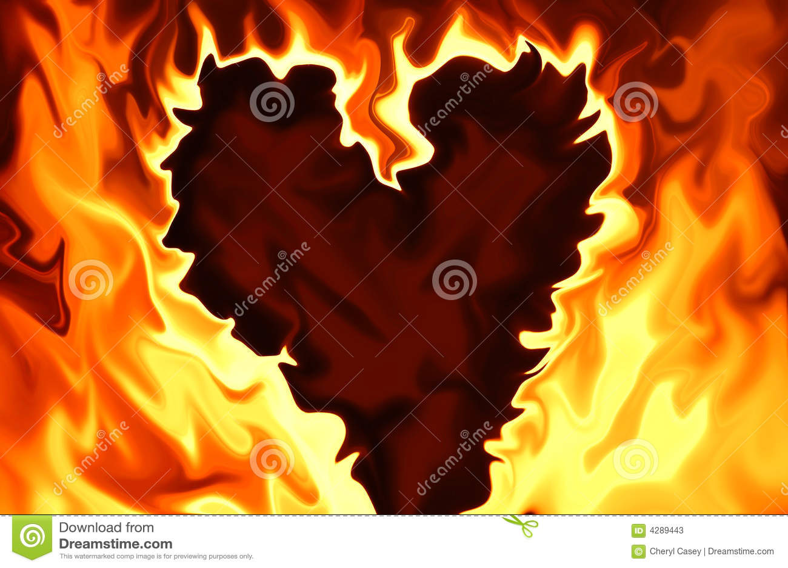 Płonący serce