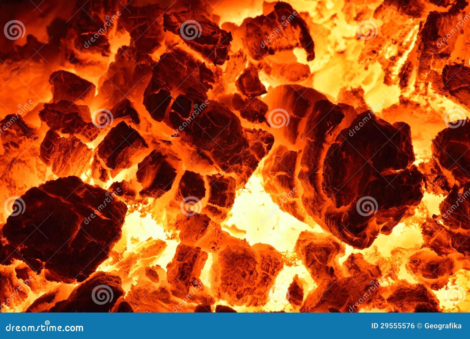 Płonący węgiel