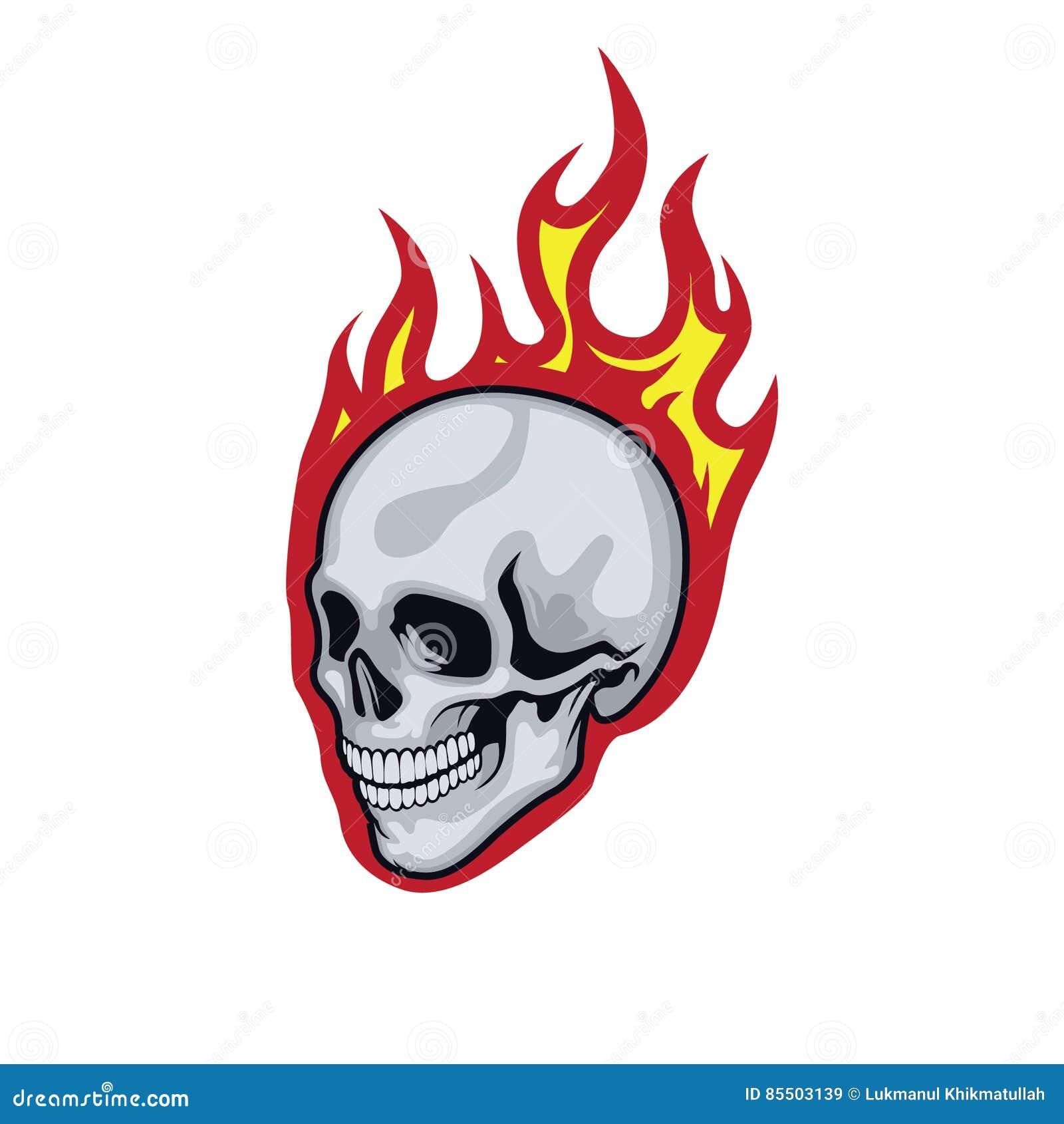 Płonie czaszkę