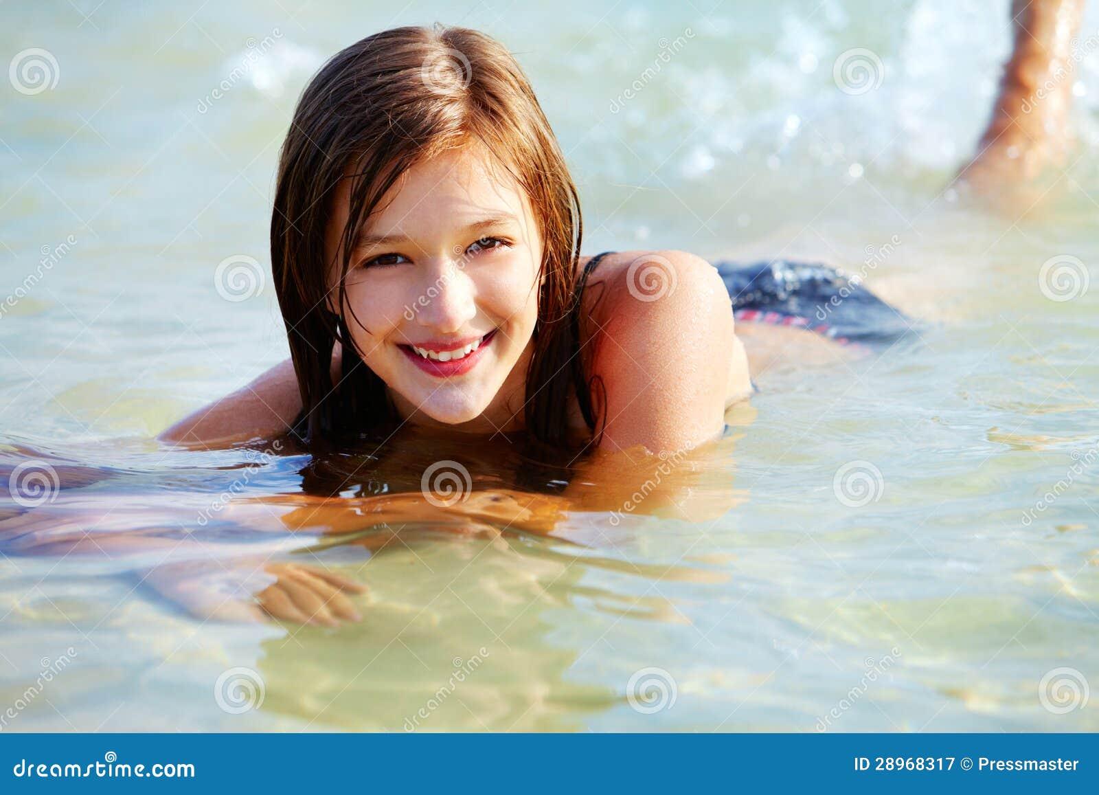 Pływacka dziewczyna