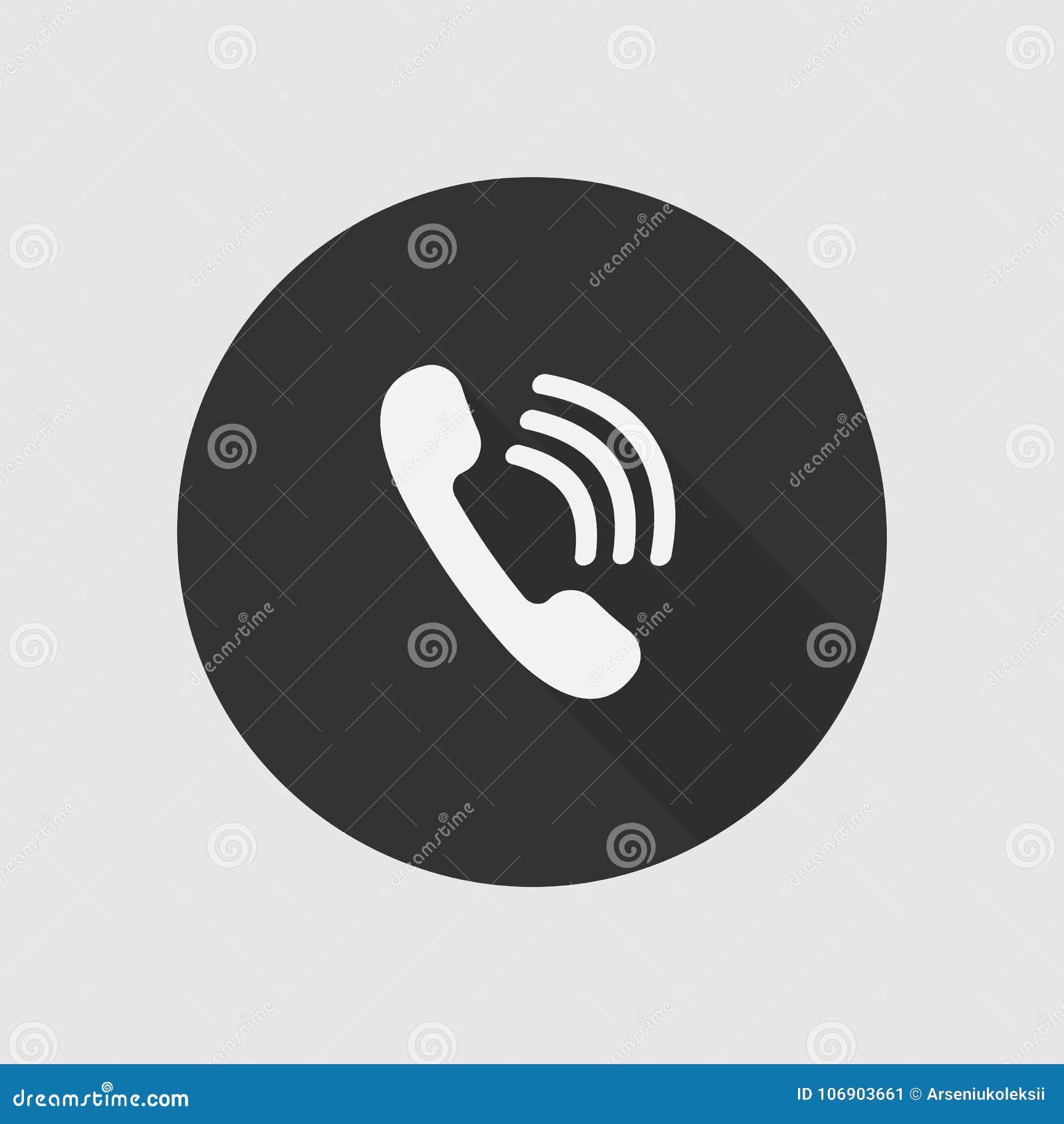 Płaski telefon sieci znak