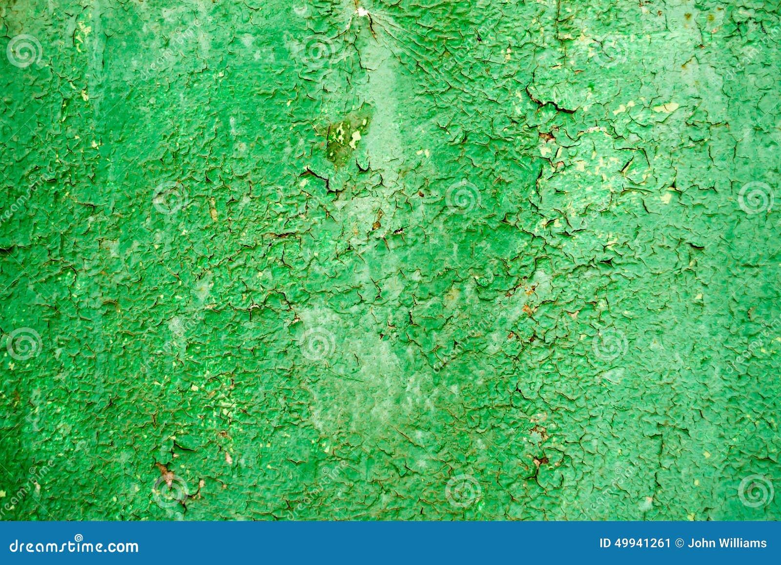 Platkowanie Stara Zielona Farba Na Metalu Obraz Stock Obraz