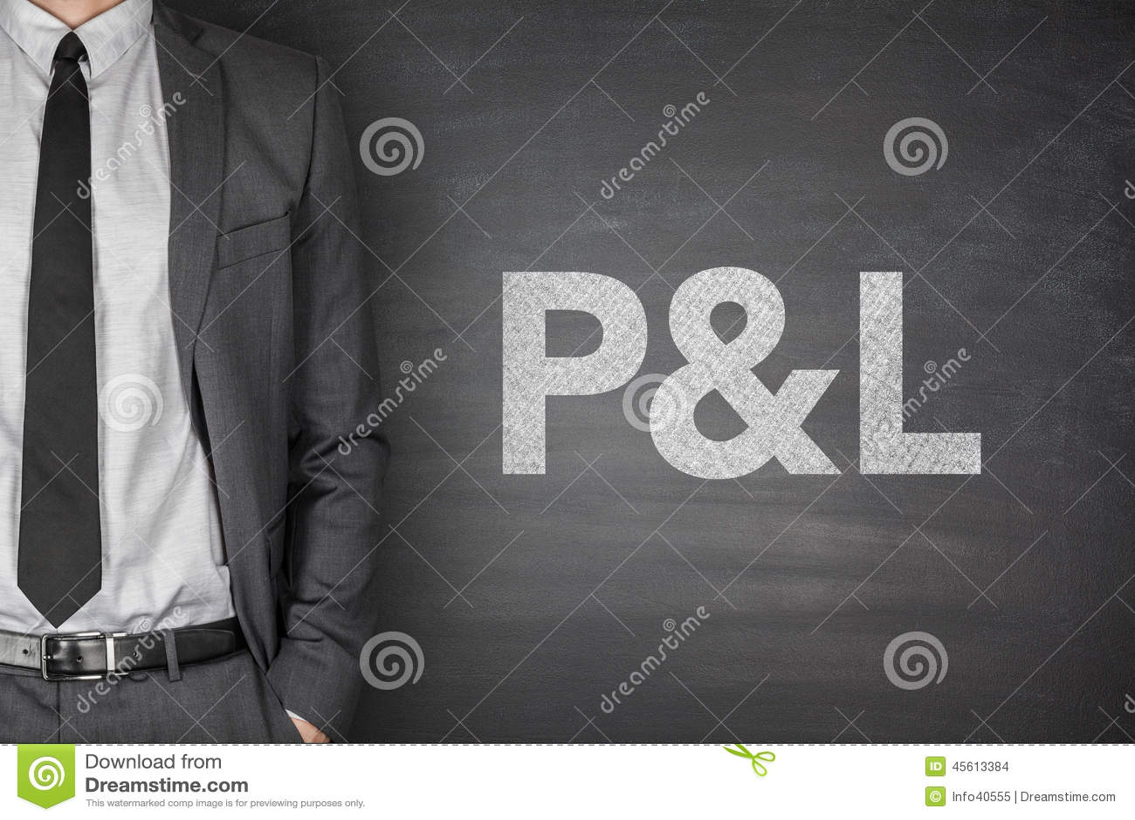 P&L på svart tavla