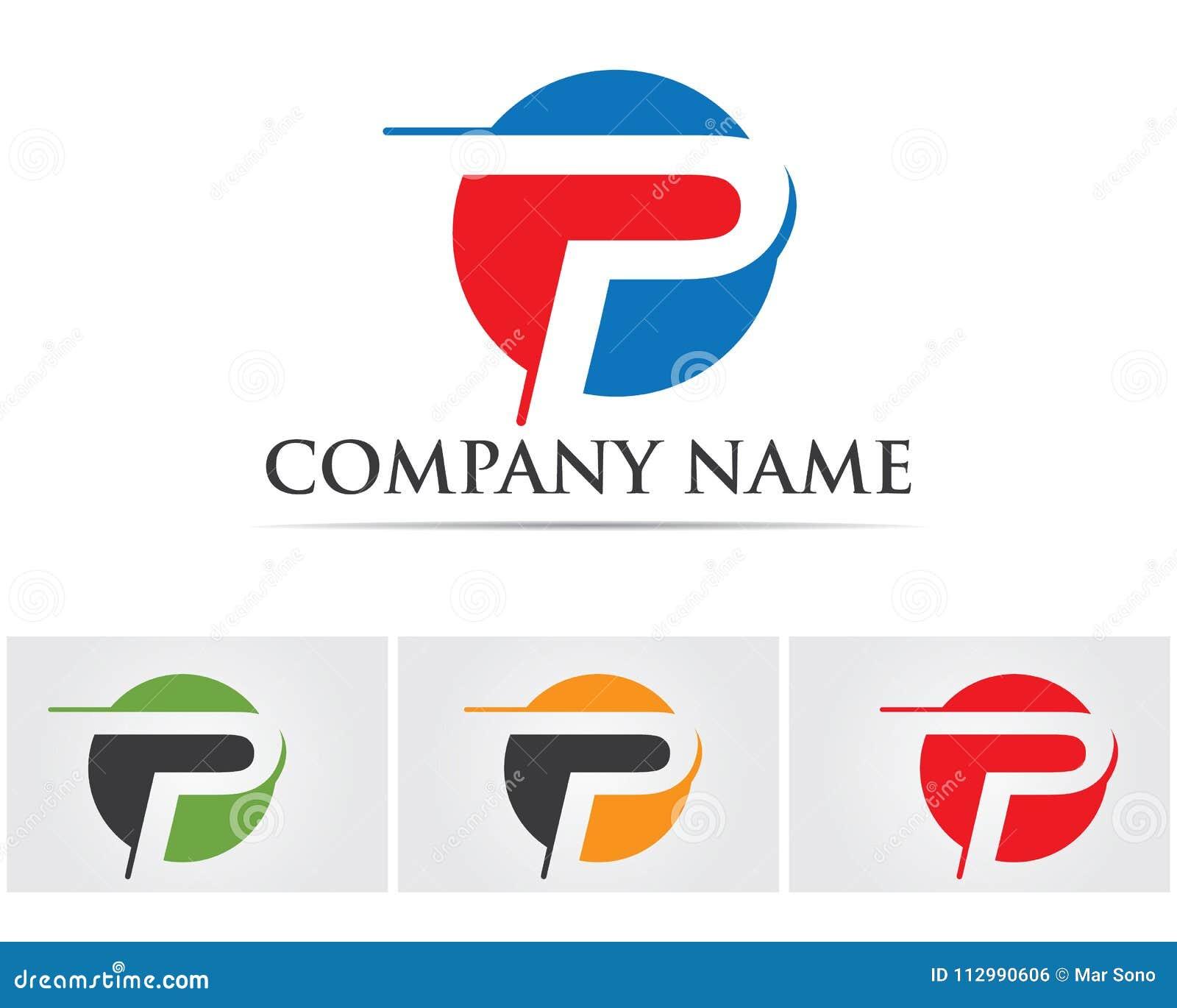 P logo design vector Business corporate lette