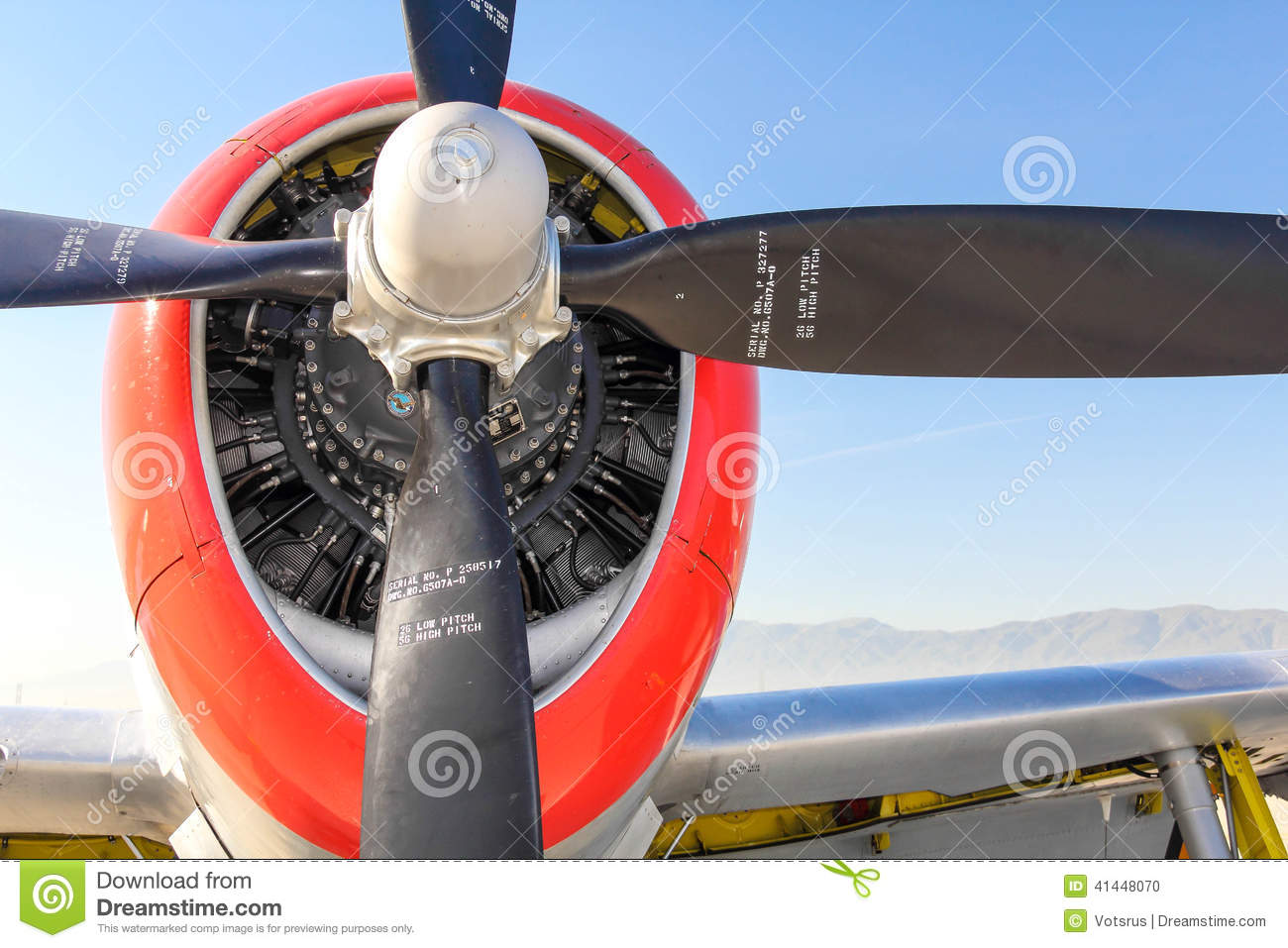 47 Thunderbolt Propeller Stock Photo - Image: 41448070