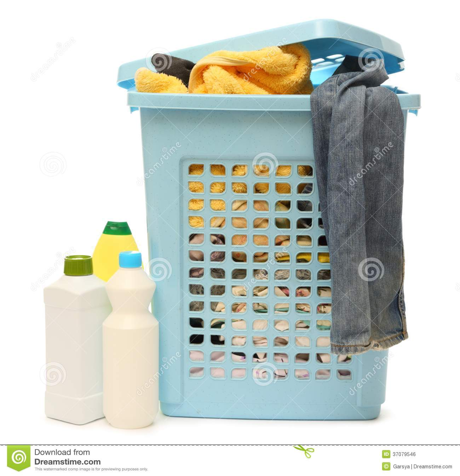 Download Płuczkowy Kosz Z Detergentem Zdjęcie Stock - Obraz złożonej z detergenty, kosz: 37079546