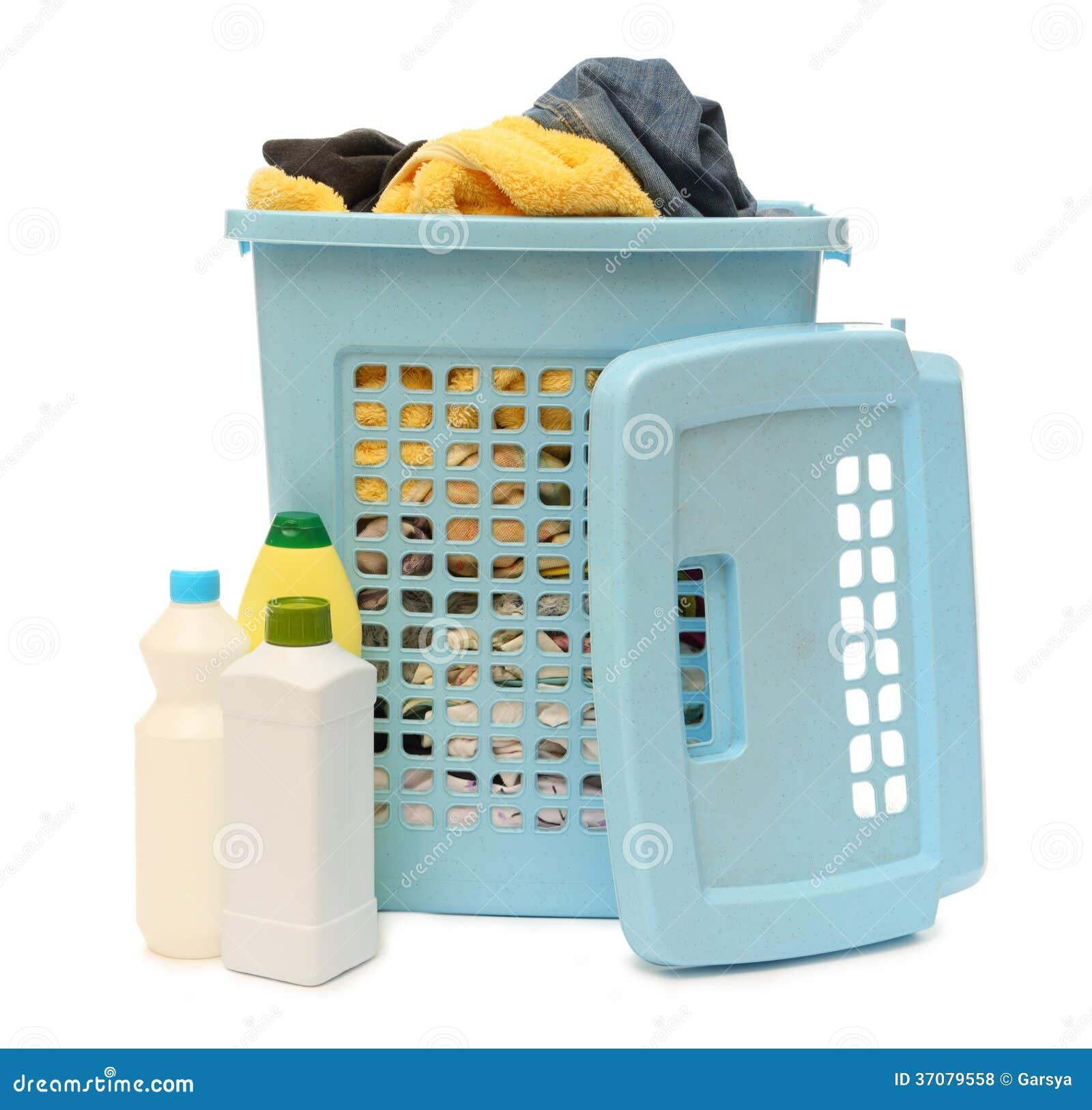 Download Płuczkowy Kosz Z Detergentem Zdjęcie Stock - Obraz złożonej z brudny, chemical: 37079558