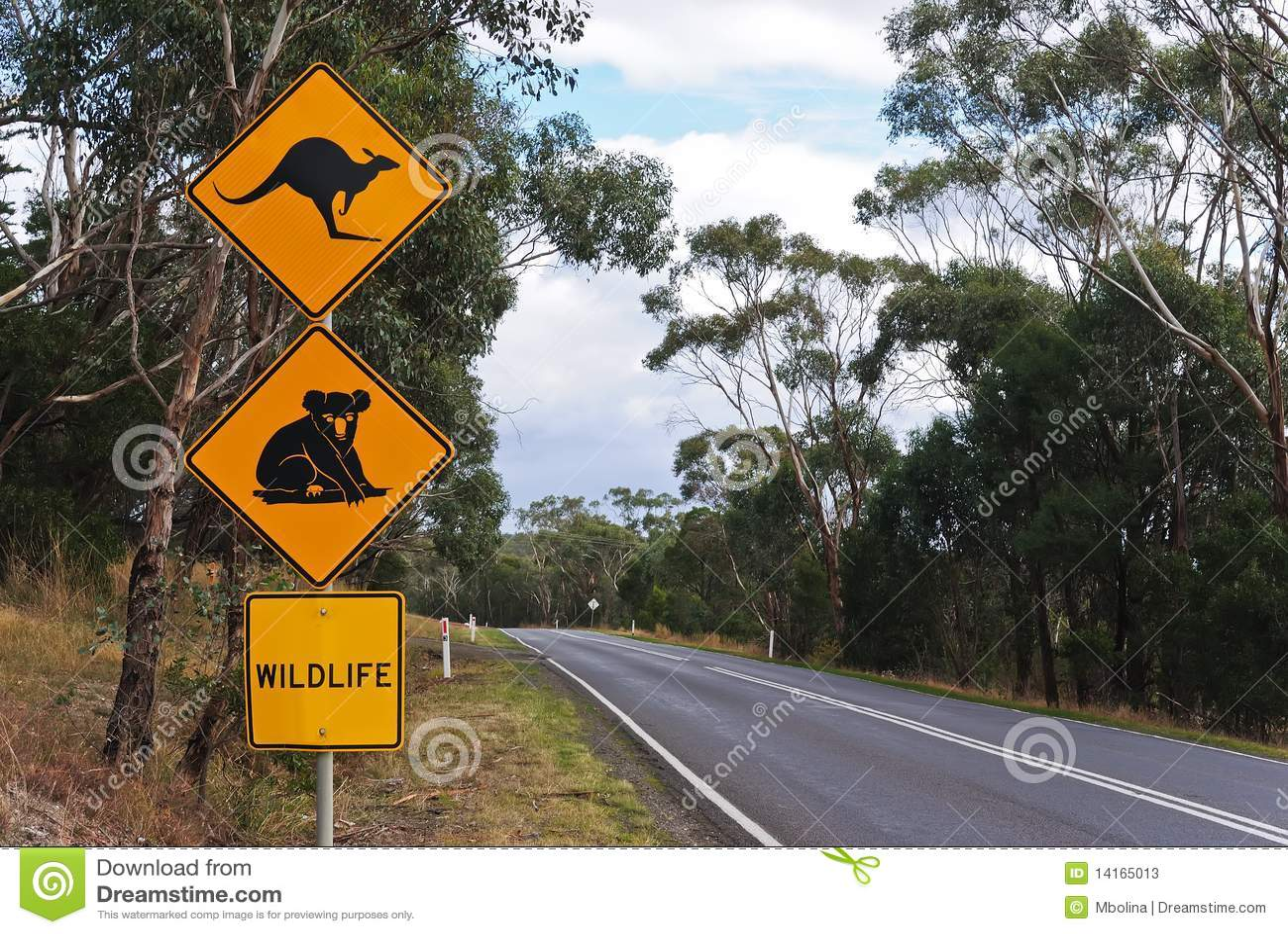 País australiano Roadsign