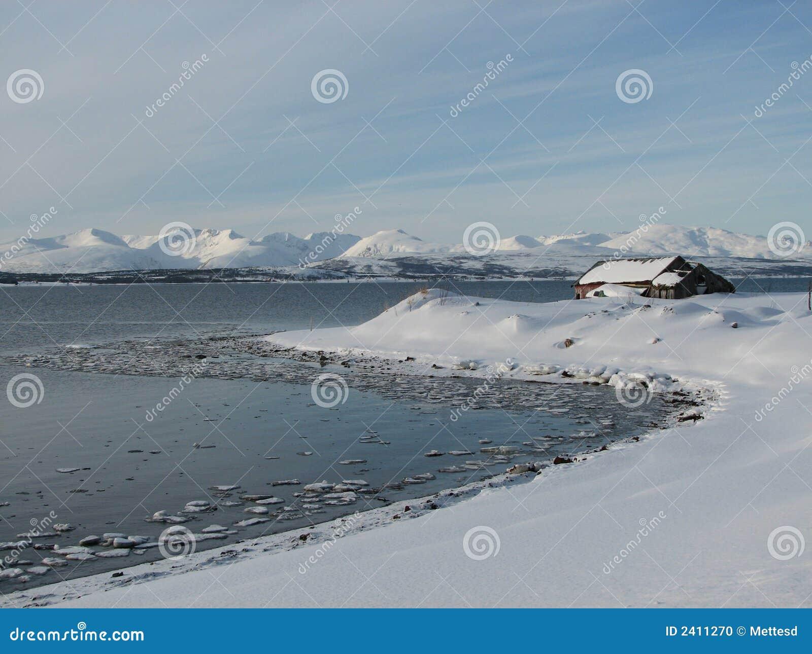 País das maravilhas ártico do inverno