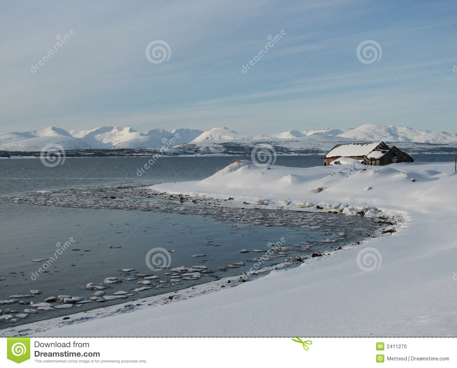 País de las maravillas ártico del invierno