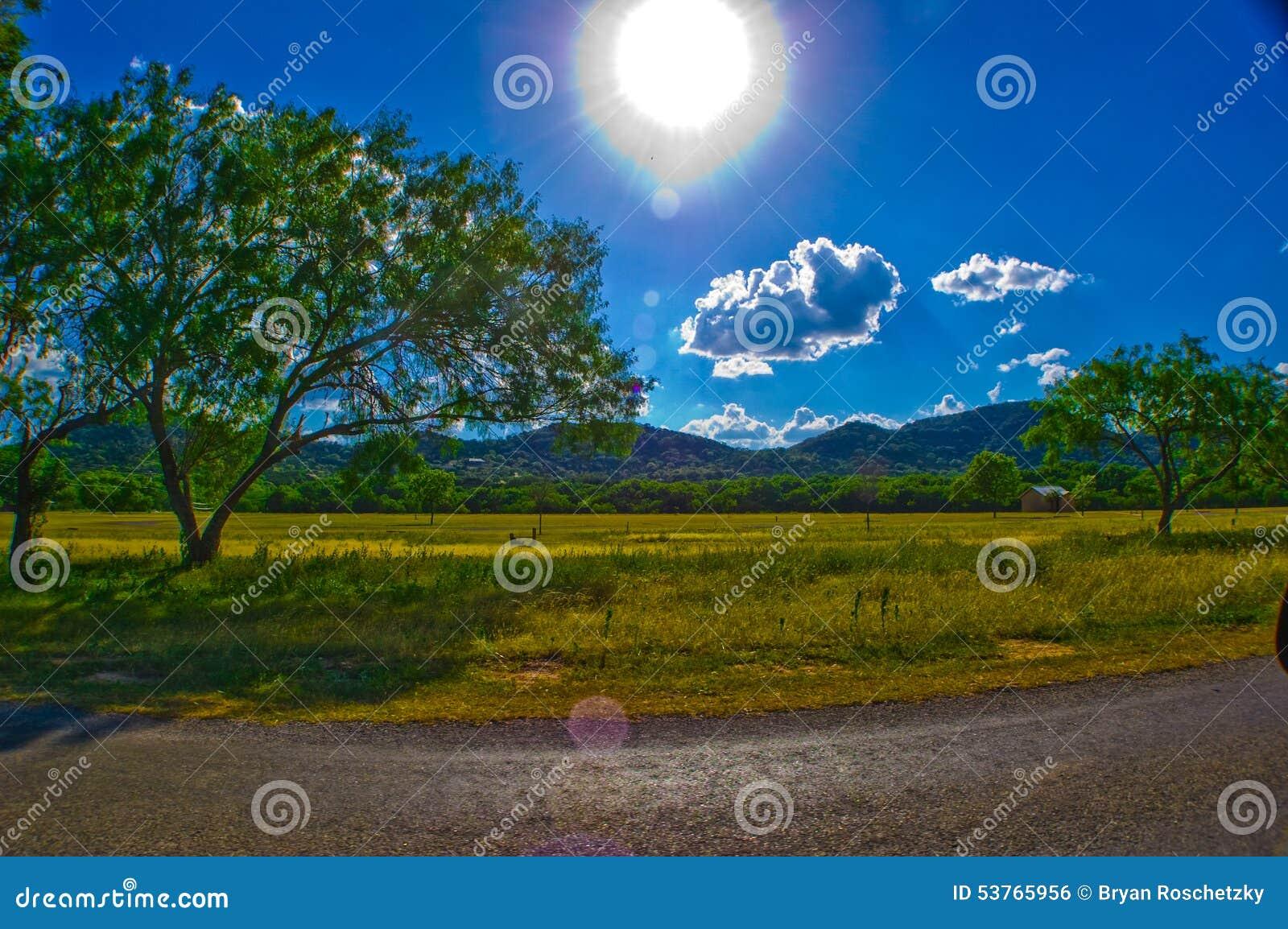 País Sunny Summer Bliss de Garner State Park Texas Hill