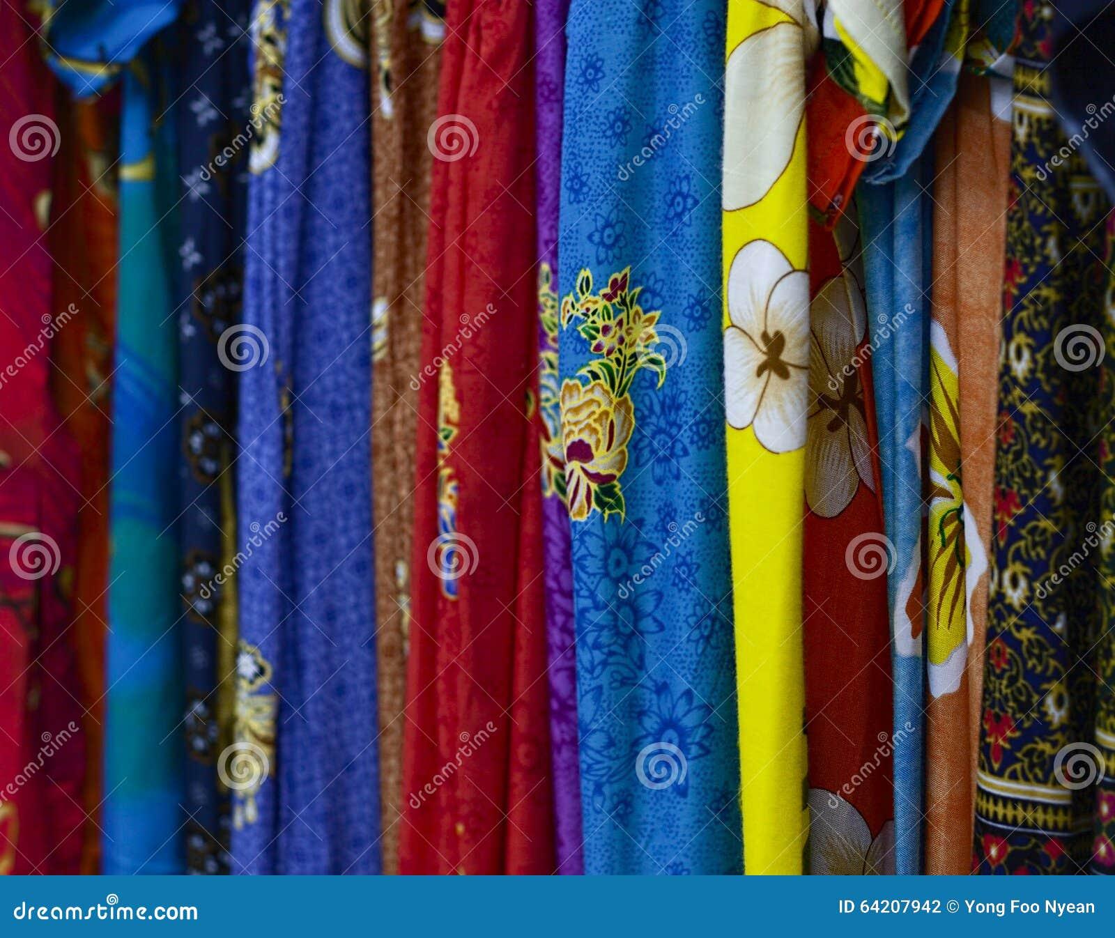 Paño colorido del batik del diseño