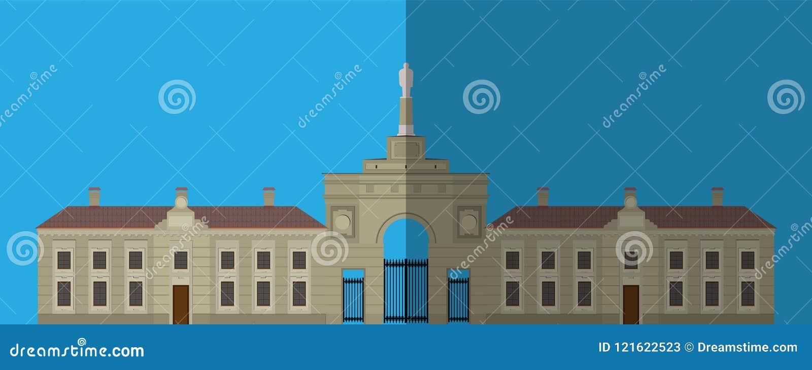 Pałac ikona Płaski wizerunek