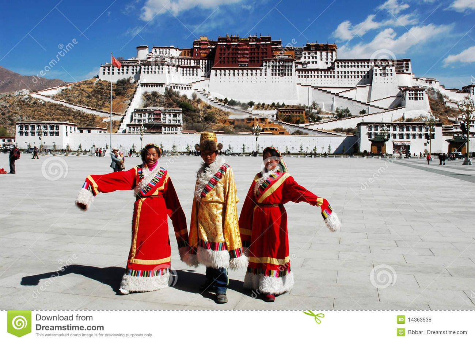 Pałac ludzie potala tibetan
