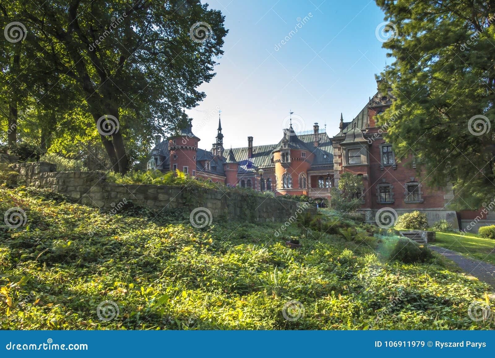 Pałac i parka kompleks w Plawniowice w Polska