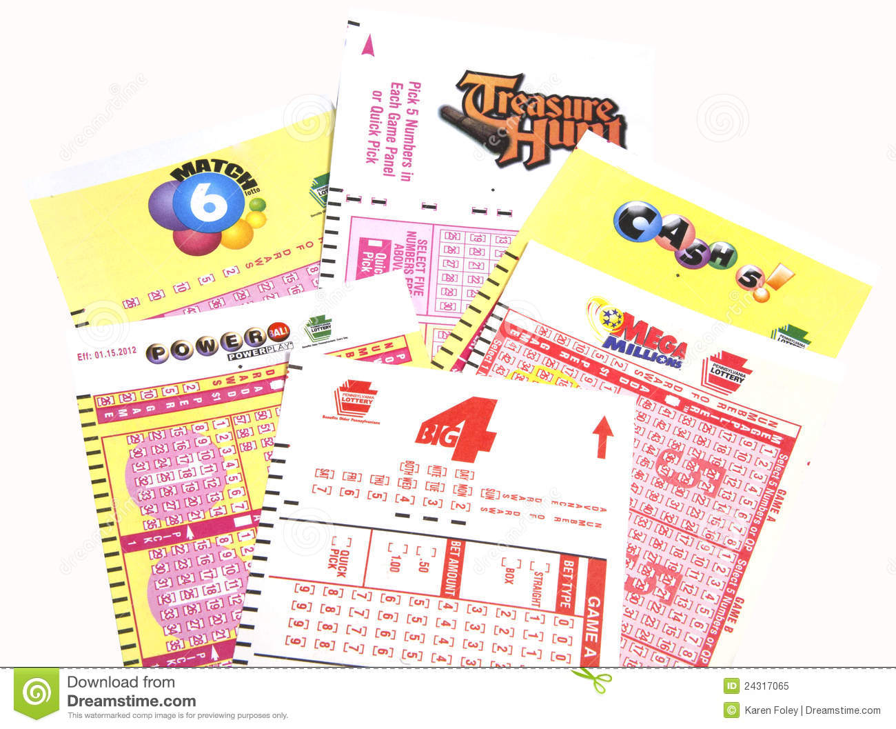 PA Lottery Tickets Editorial Image - Image: 24317065