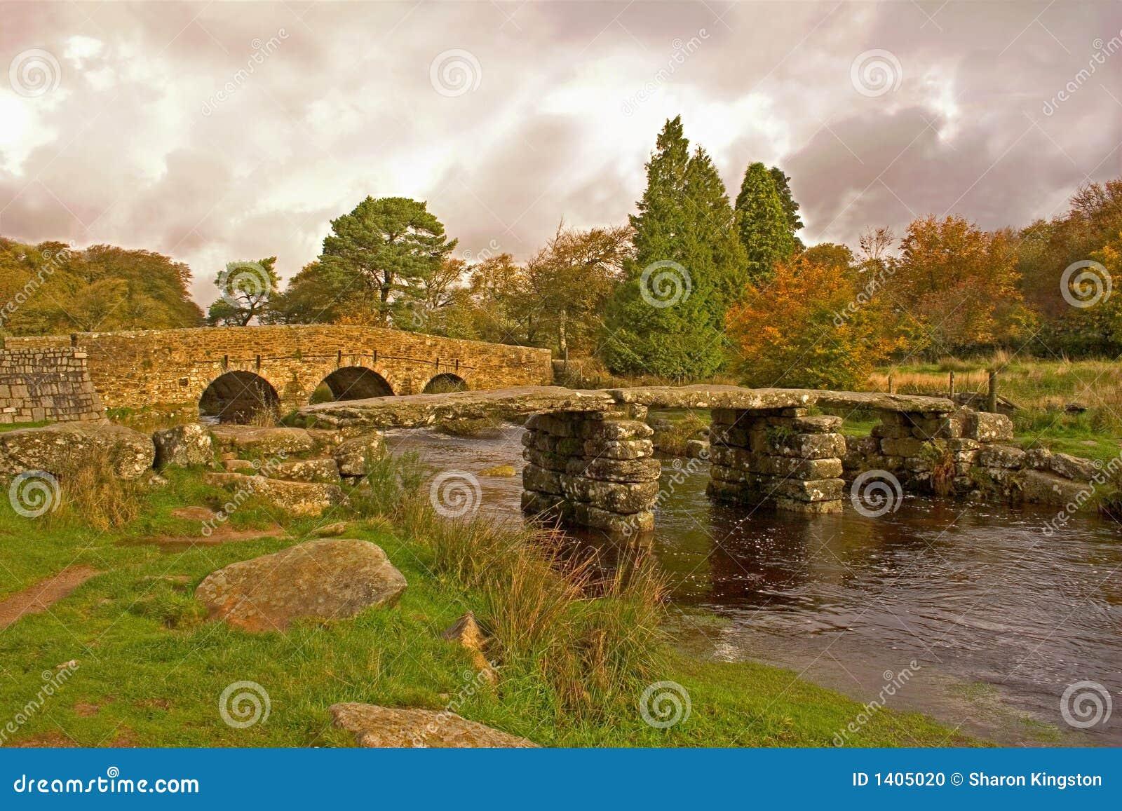 PA nationale de Dartmoor de pont en clapet