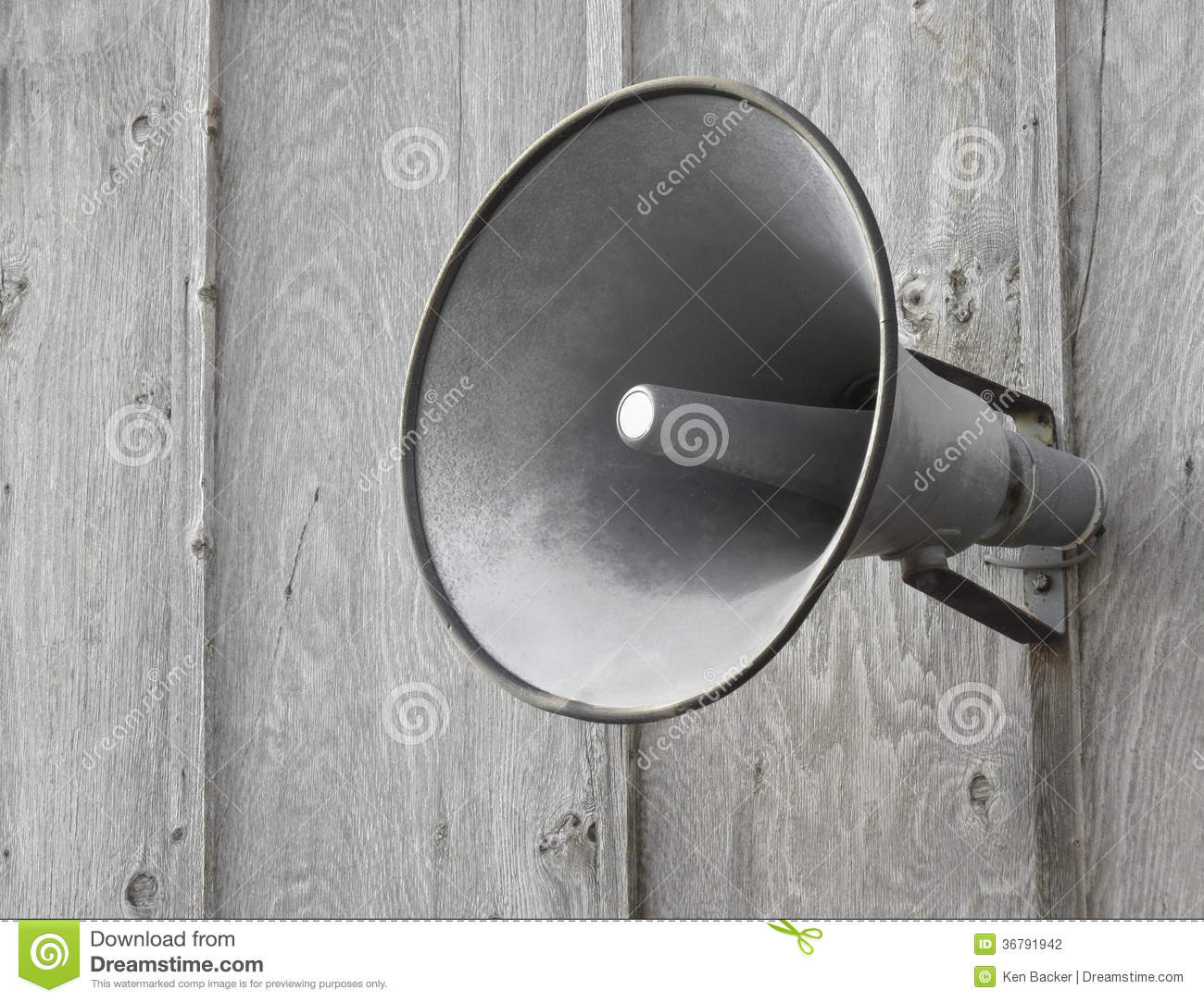 Pa Speaker On Wooden Wall Stock Photography Image 36791942