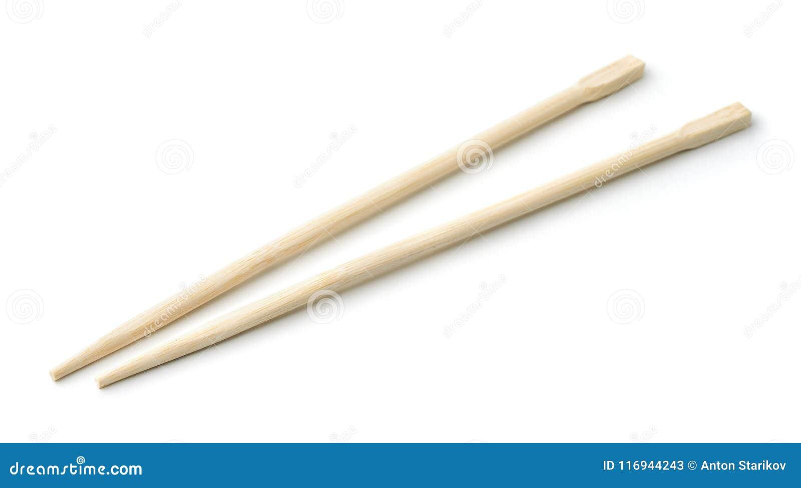 Paar bamboe beschikbare eetstokjes