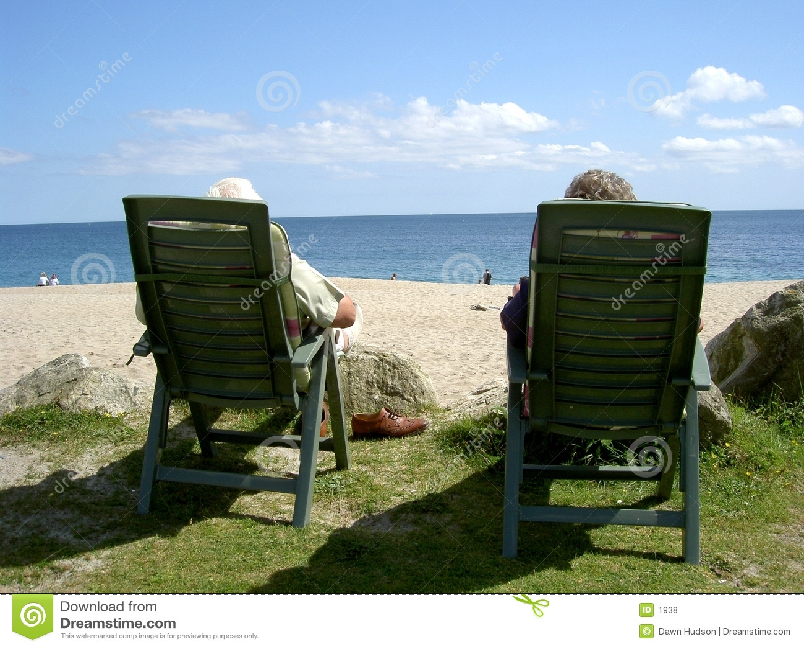 Paar bij het Strand