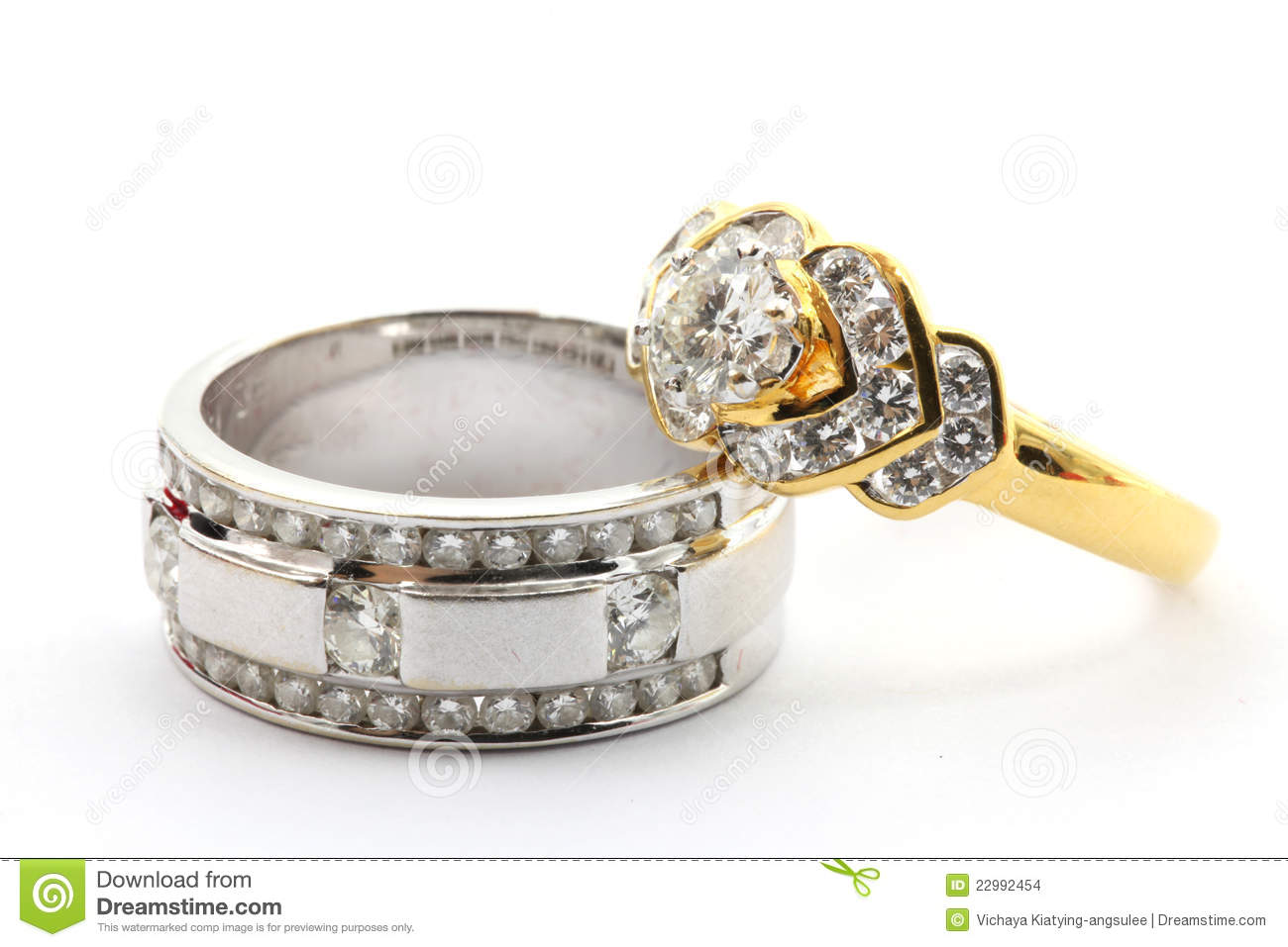Paar-Diamant-Ring