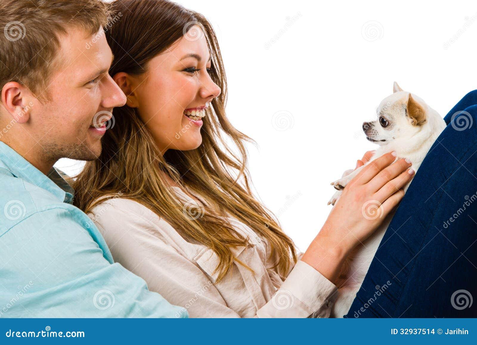 Paar en hond