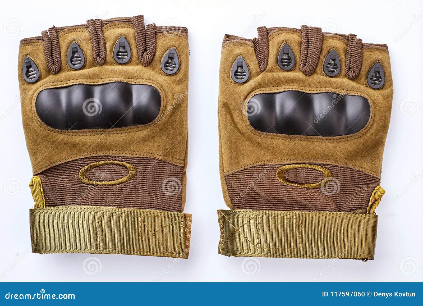 Paar militaire fingerless handschoenen