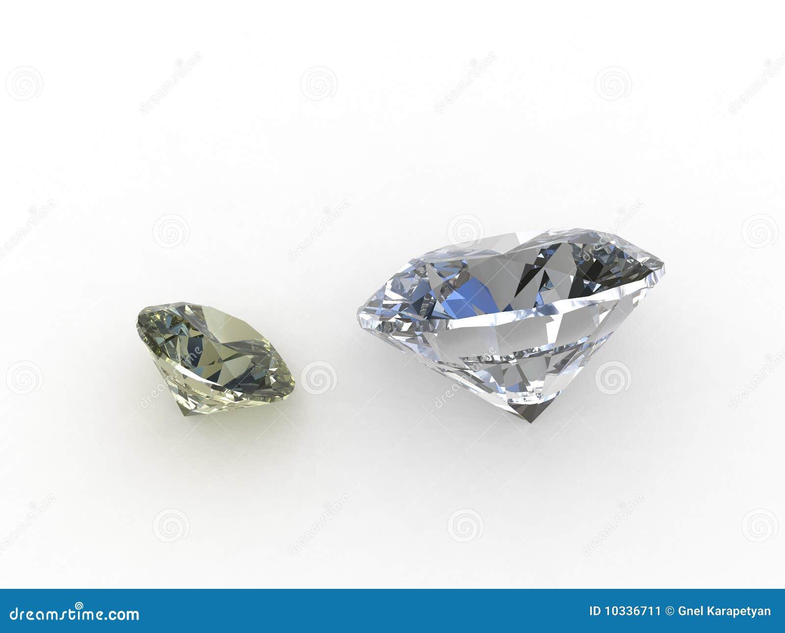 Paar mooie ronde diamanten