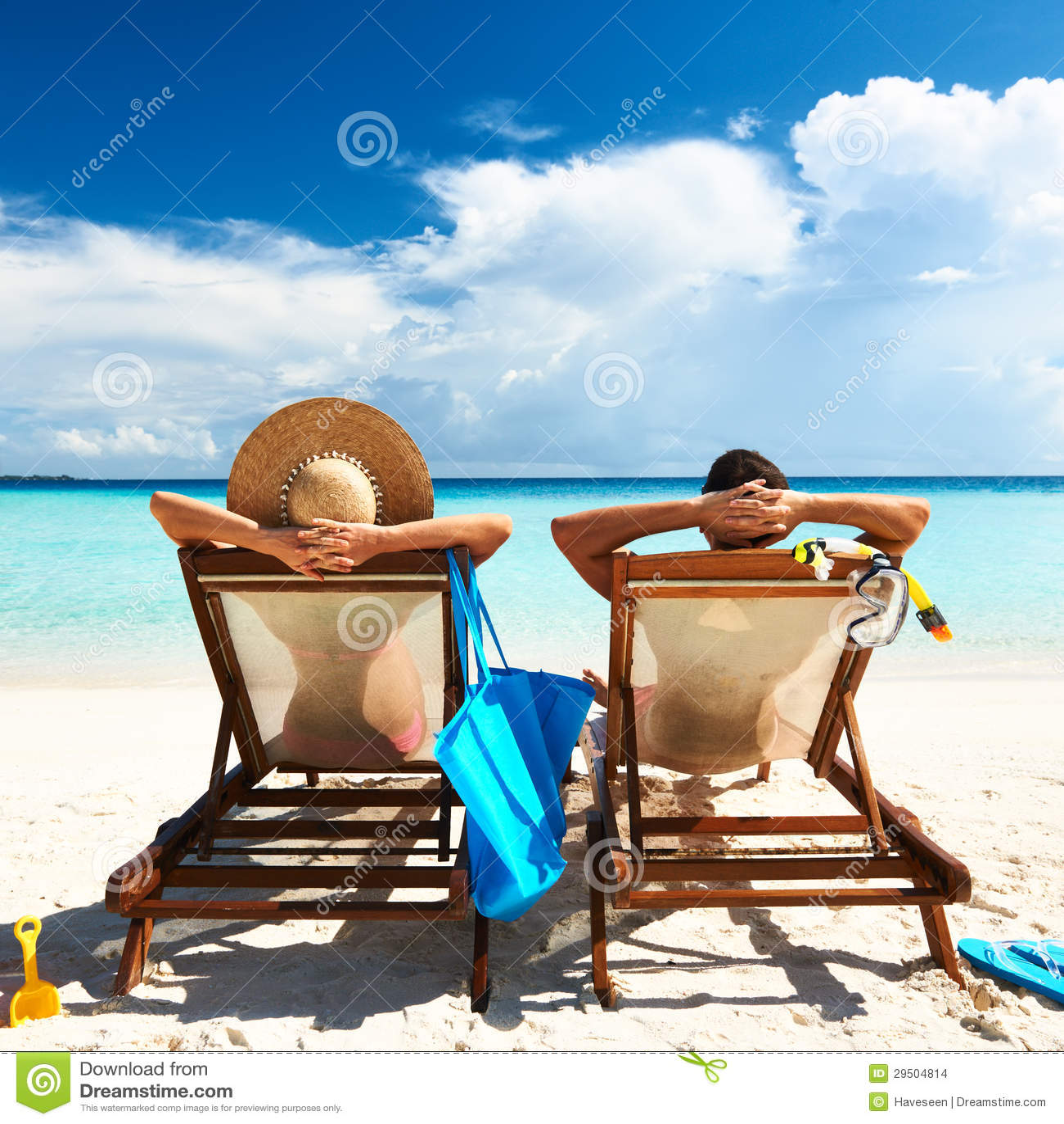 Paar op een strand
