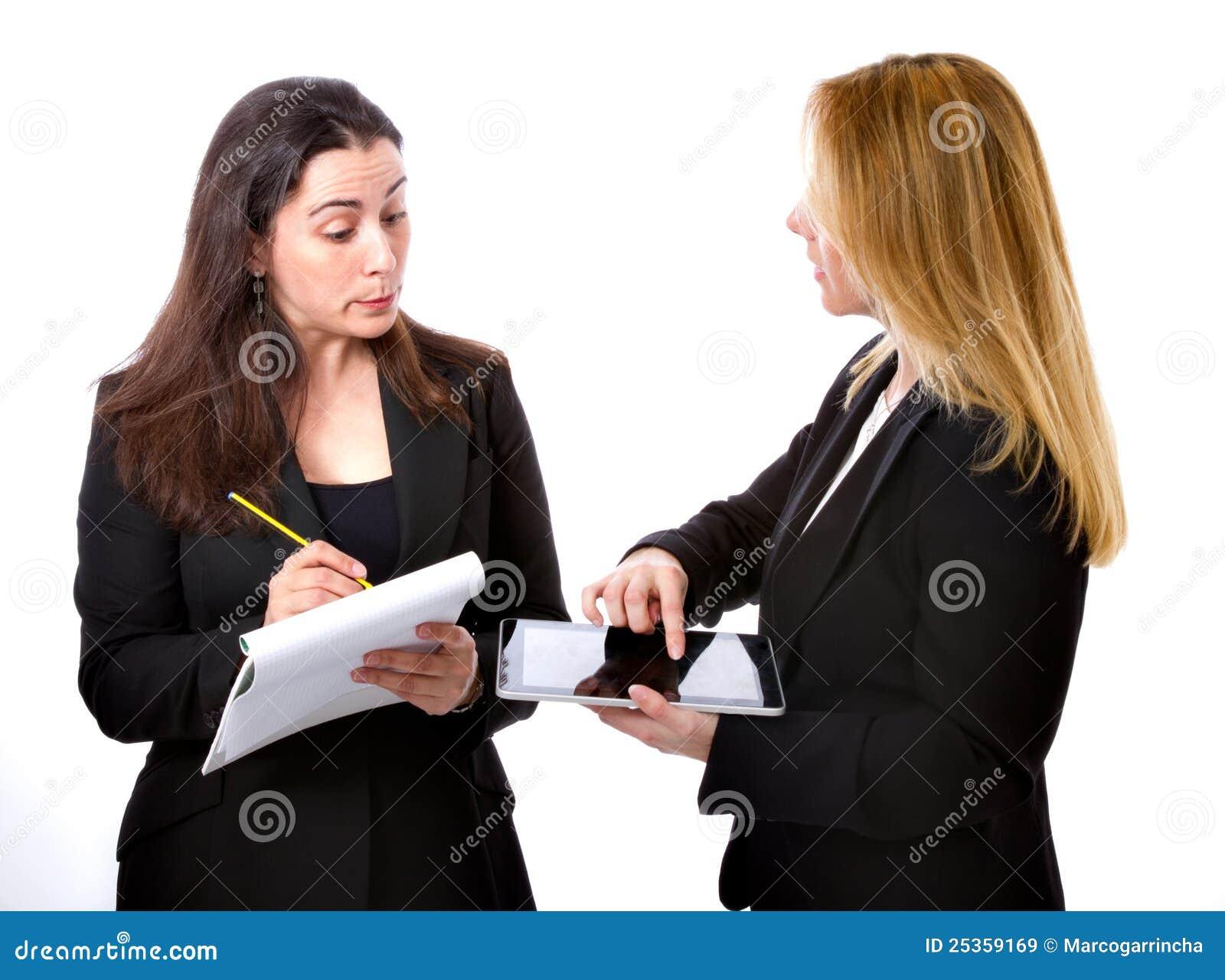 Paar van bedrijfsvrouw