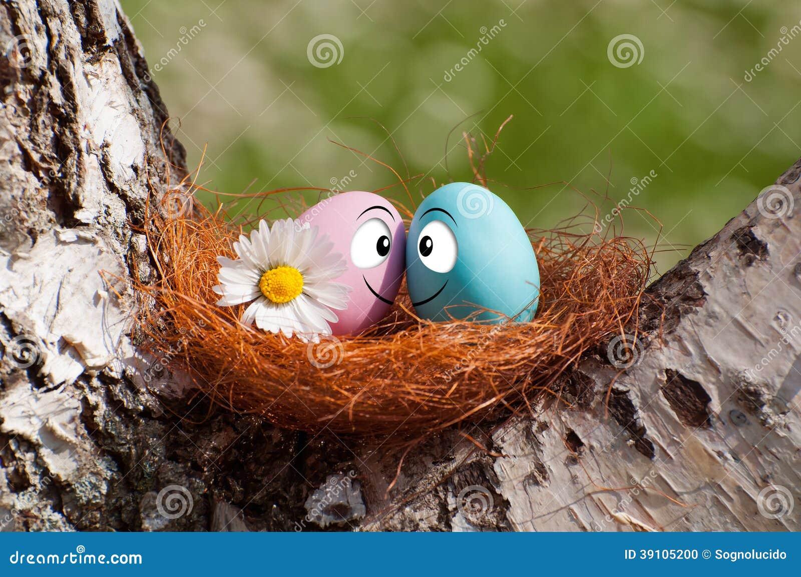 Paar van eieren voor Pasen