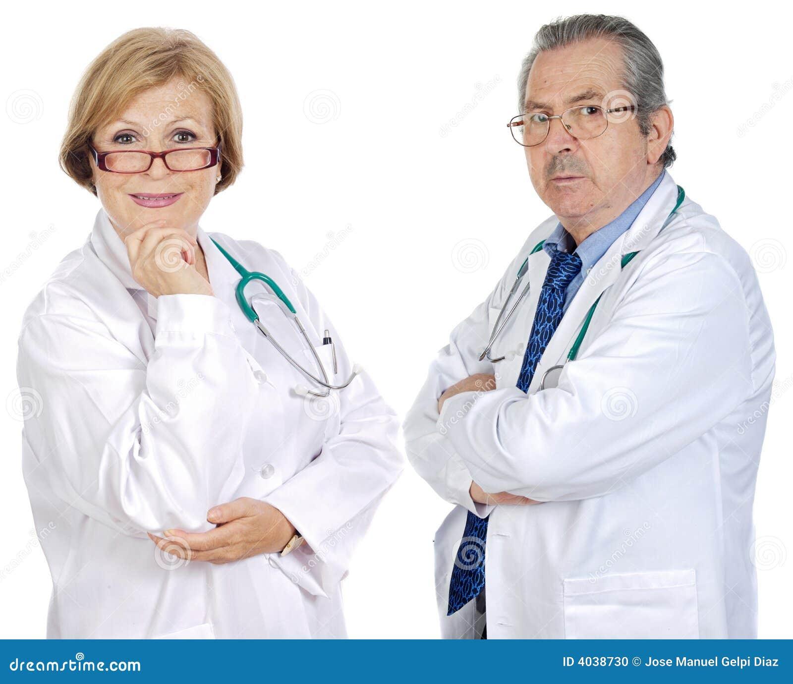 Paar van oudsten artsen
