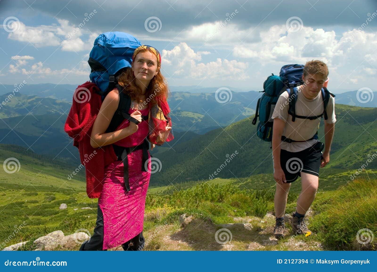 Paar van toeristen