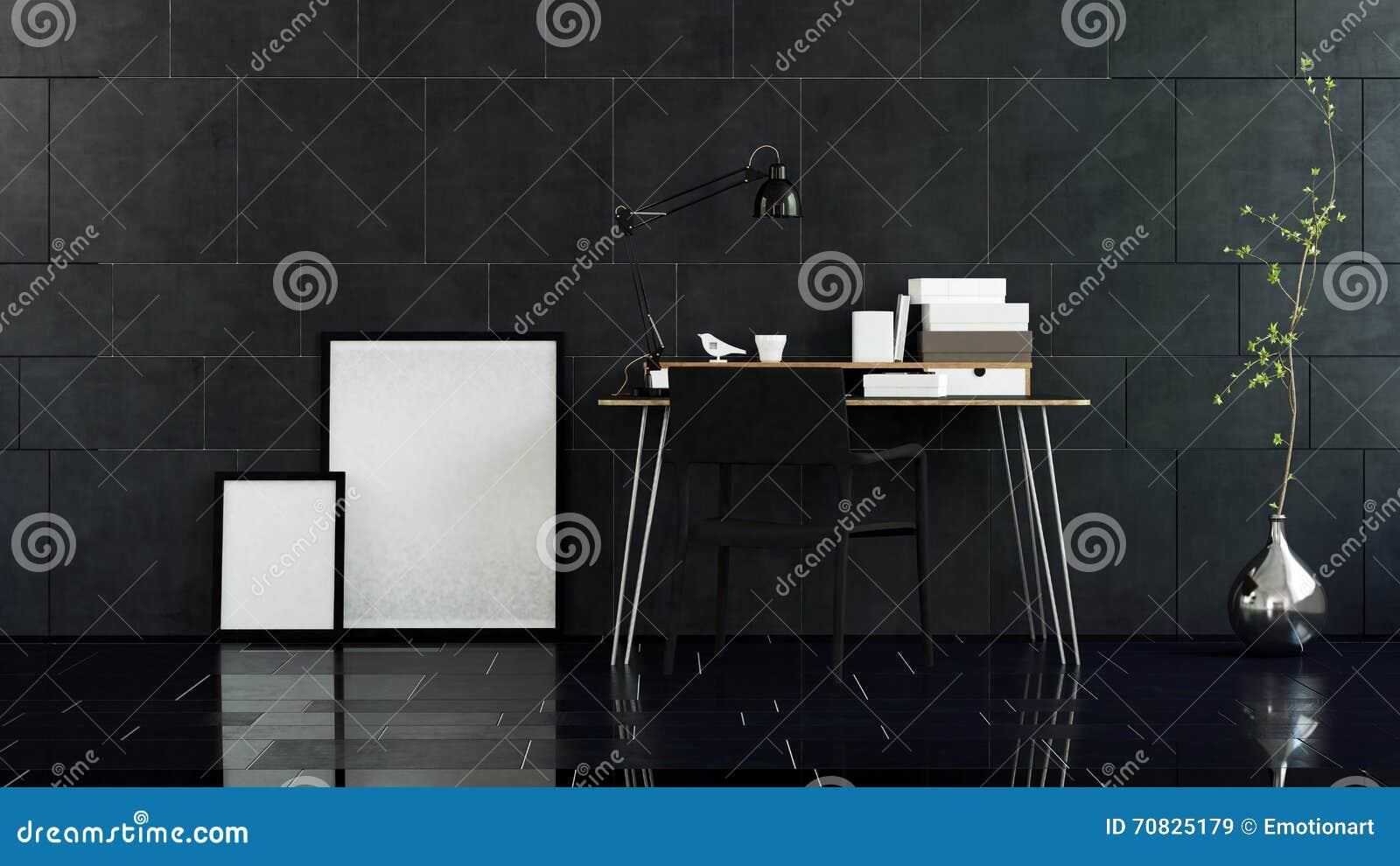 Paare Bilderrahmen Auf Boden Neben Tabelle Stock Abbildung ...