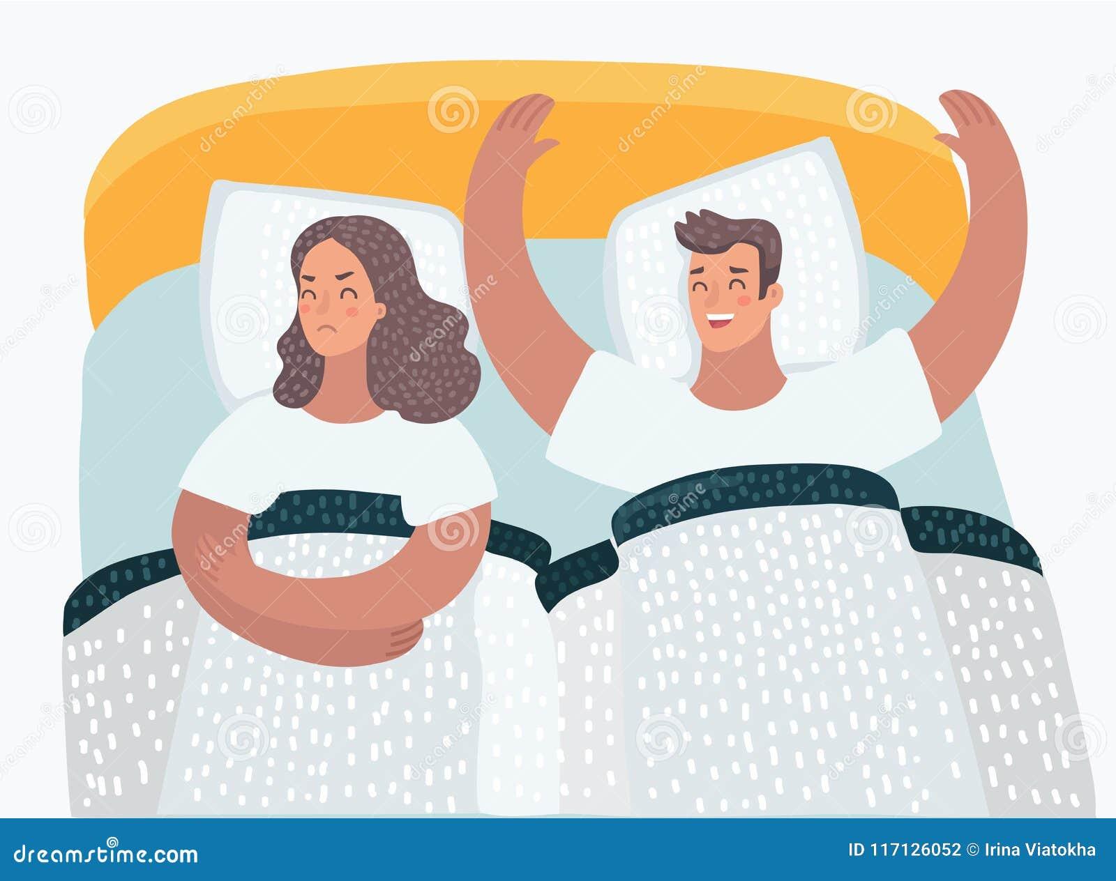 Paare in den Bettproblemen sexuell