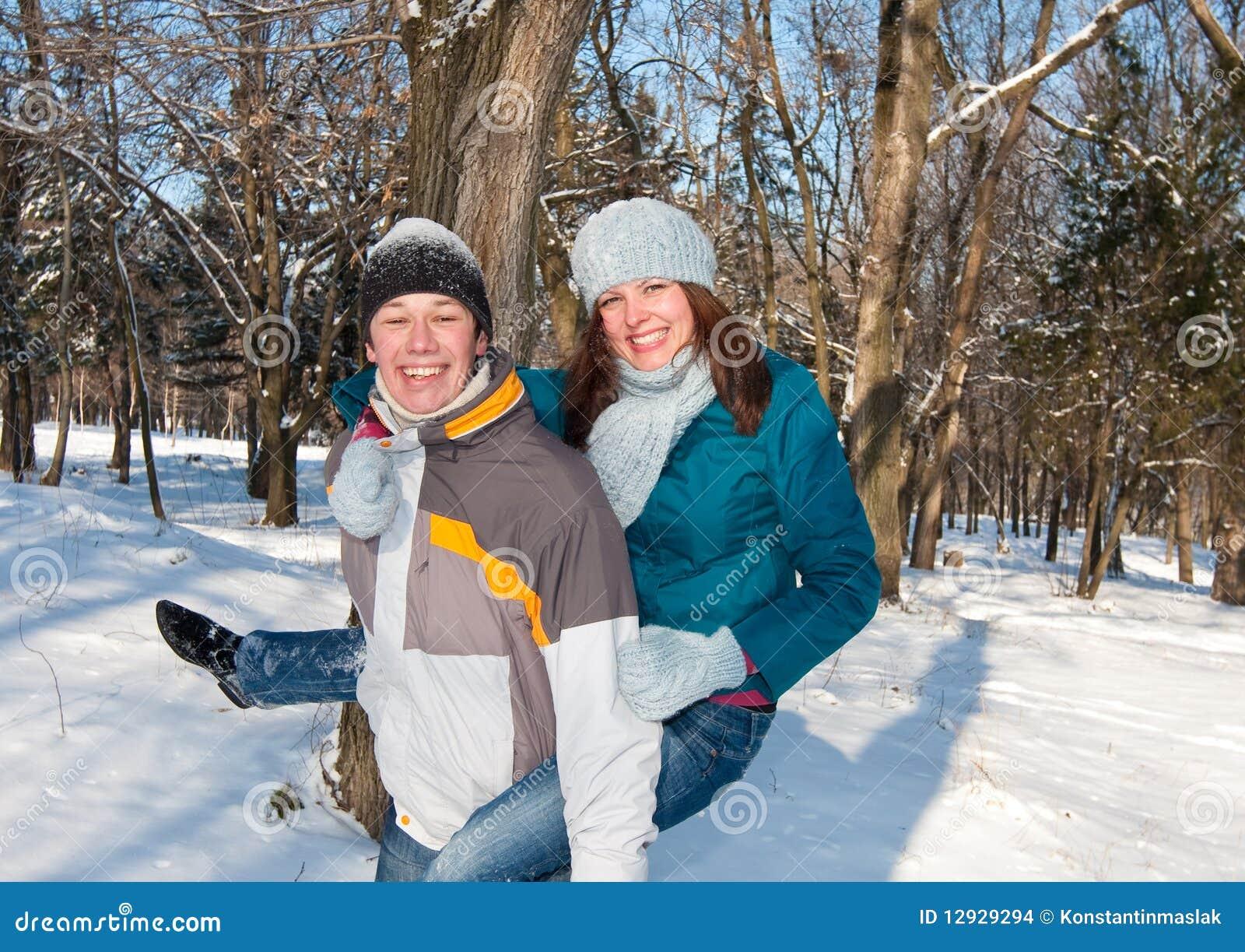 Flirten im schnee
