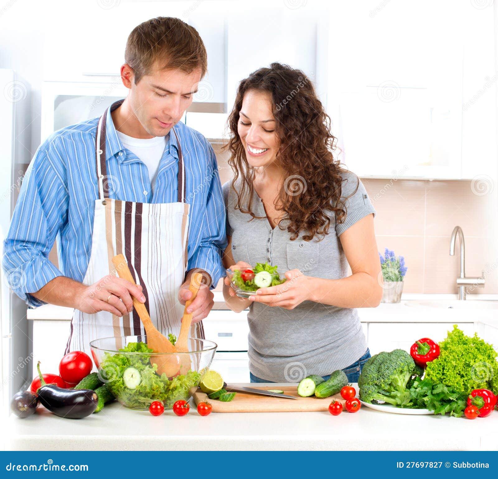 Kochen flirten