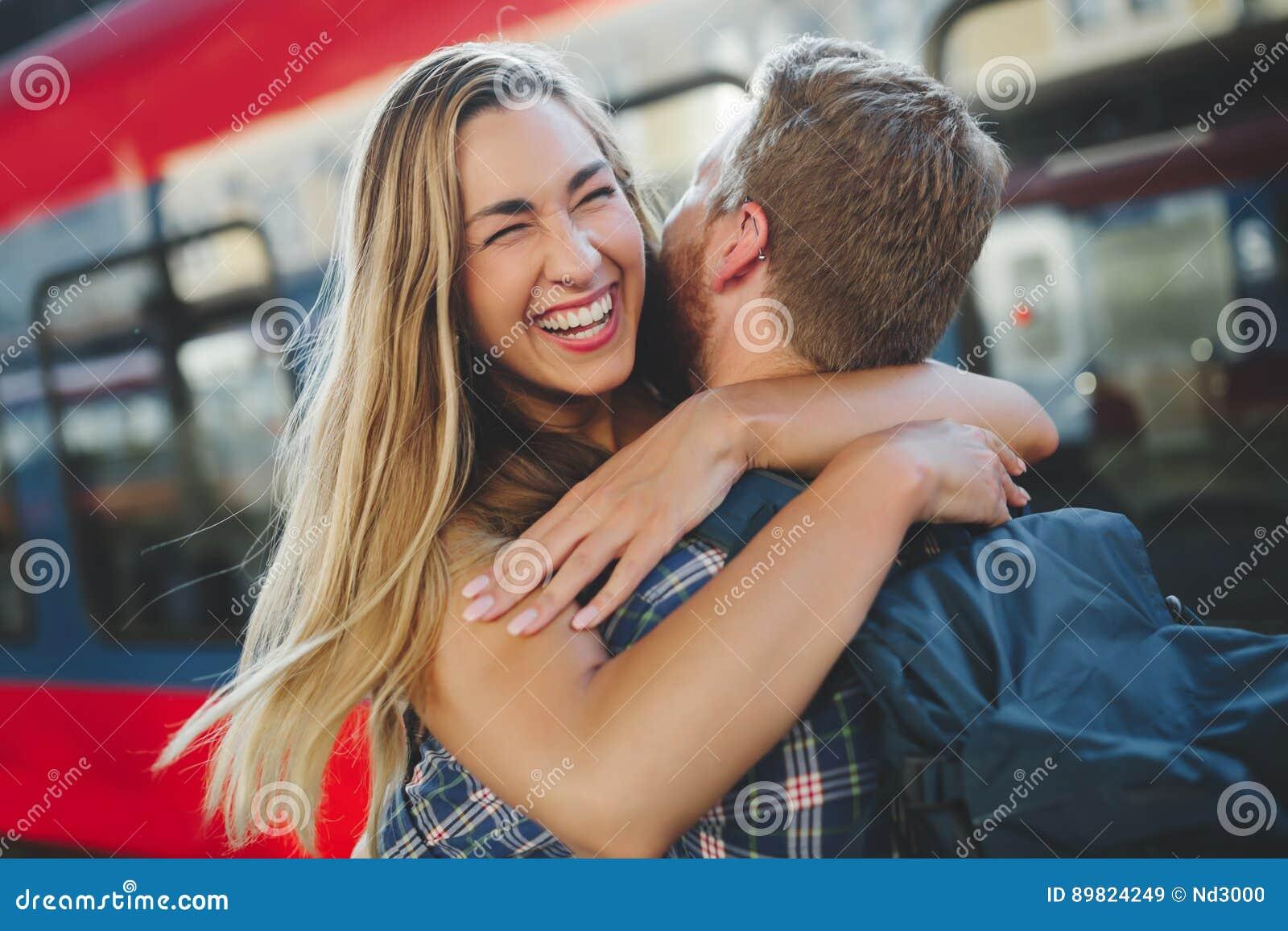 Paare reuinion nach langer Trennung