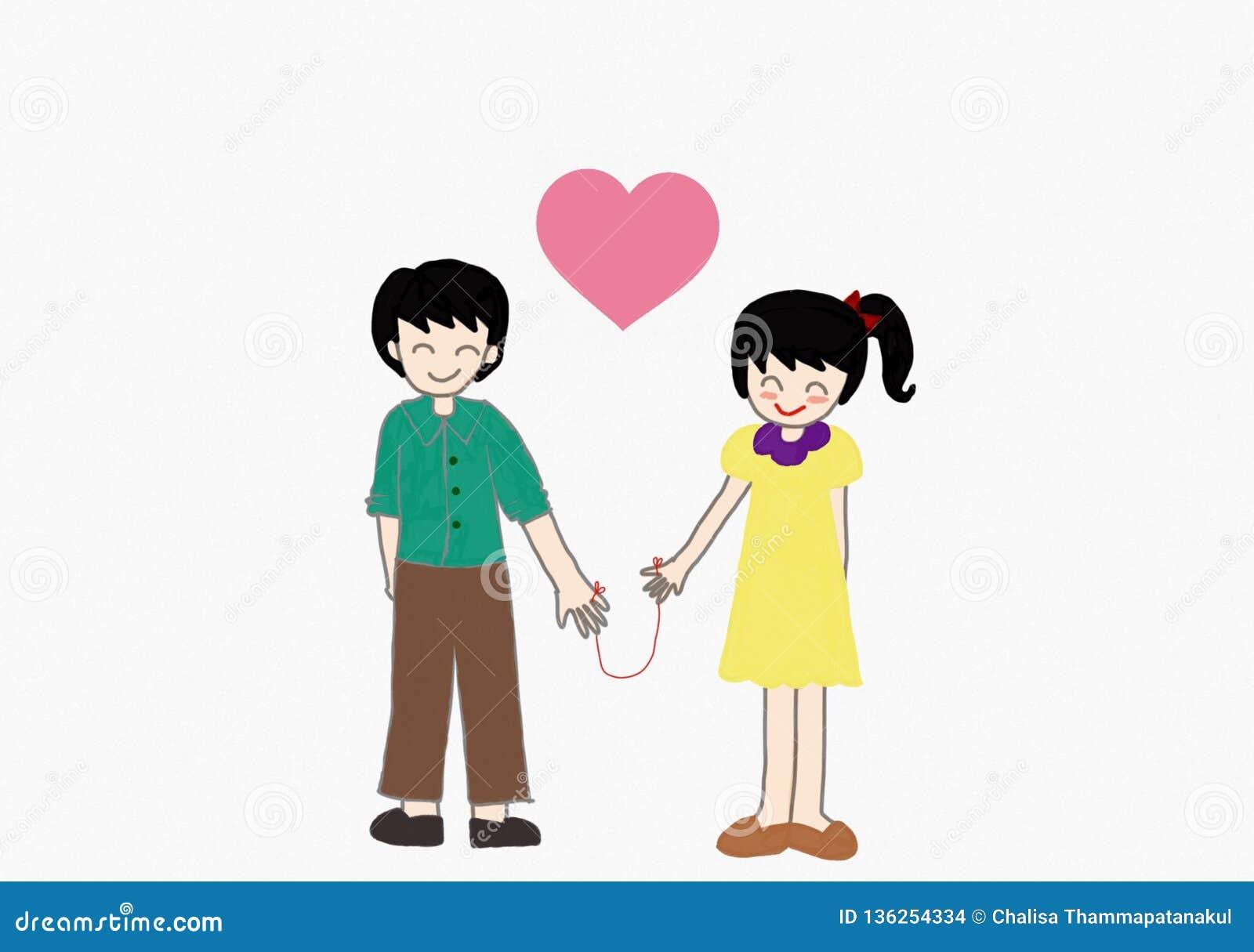 Paare sind Händchenhalten