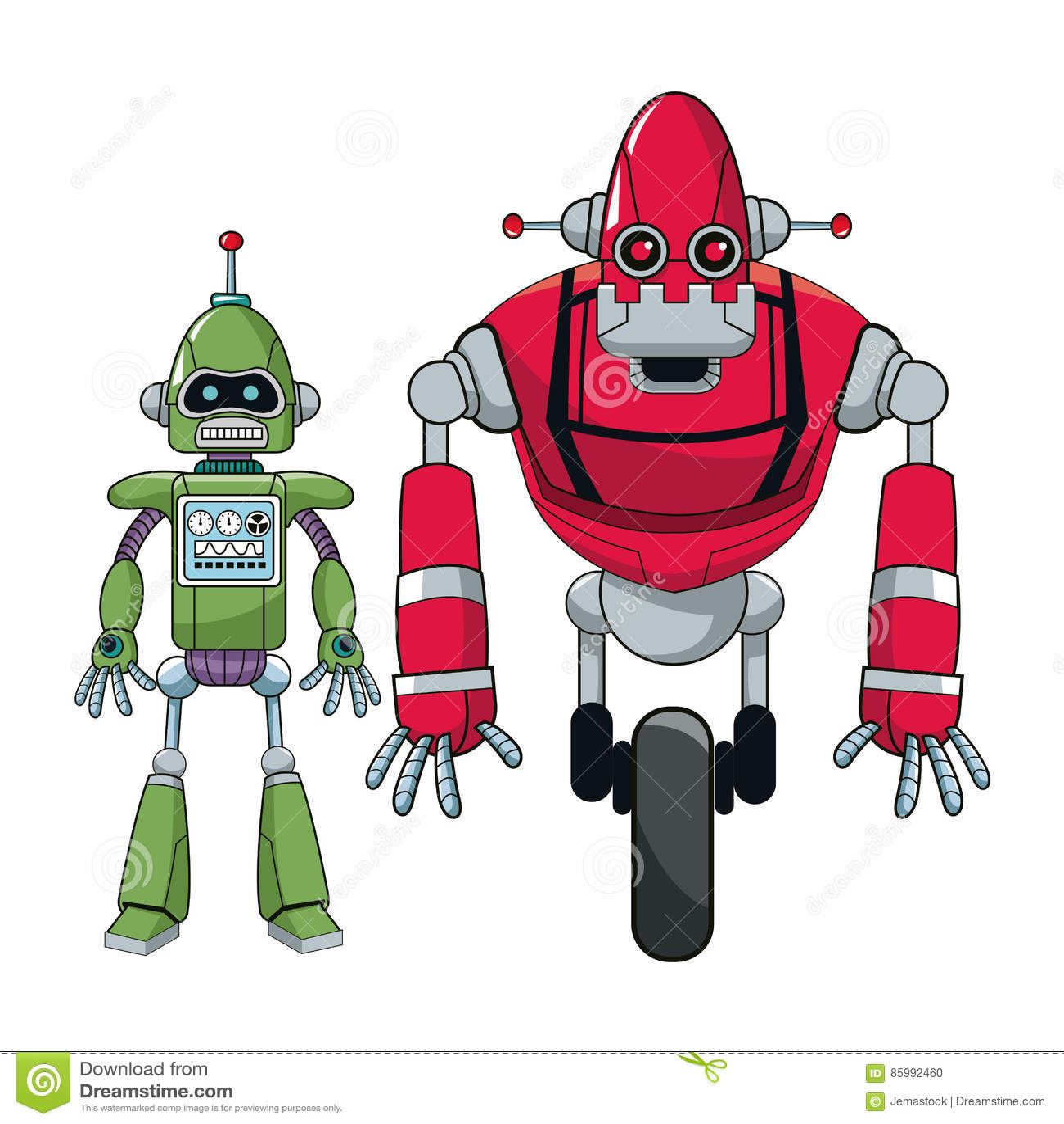 Paarroboter elektronischer Android