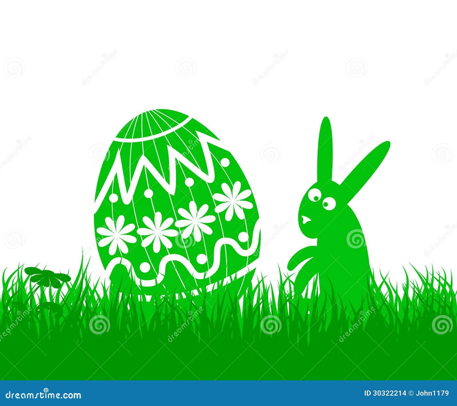 Paasei en konijn