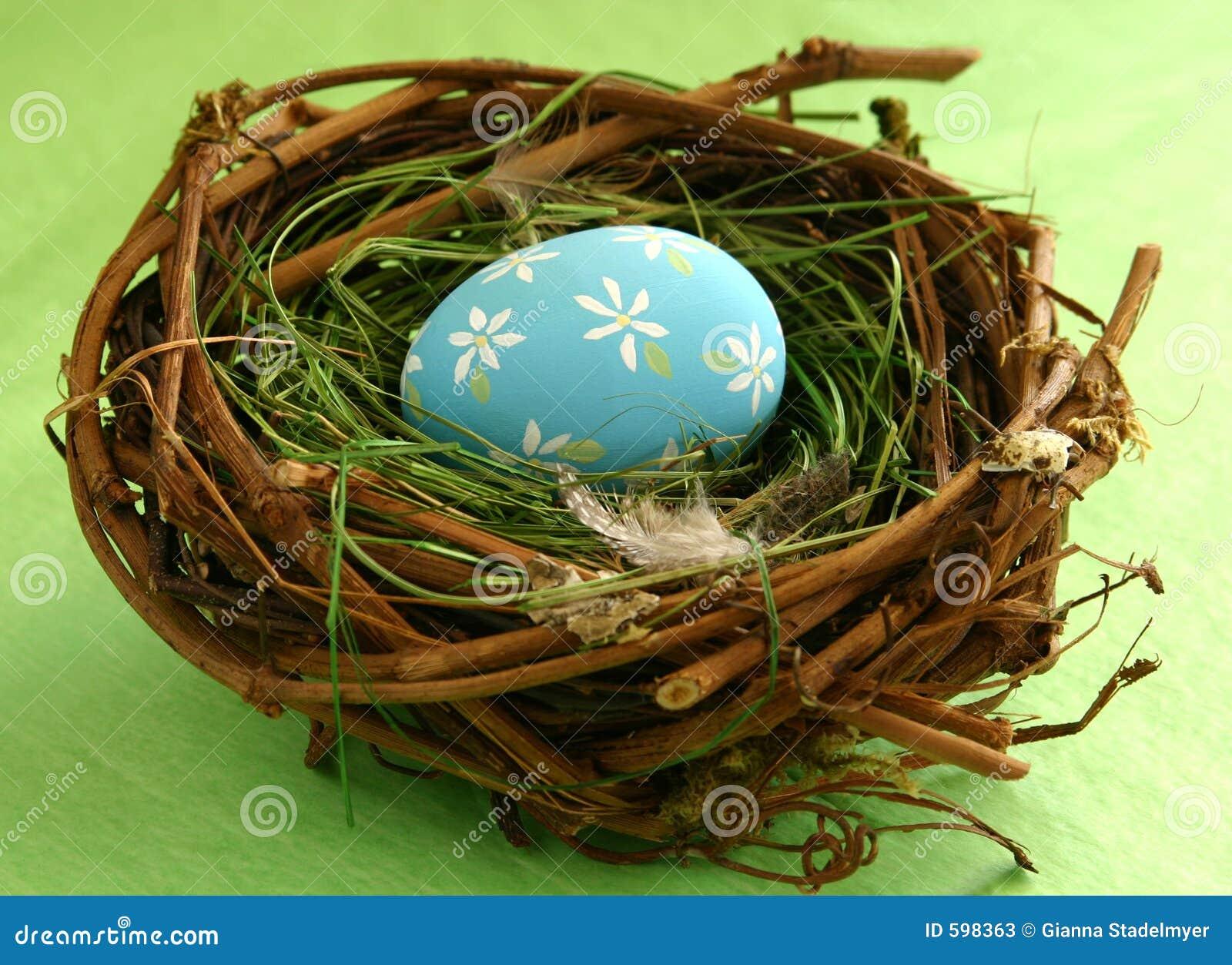 Paasei in Nest