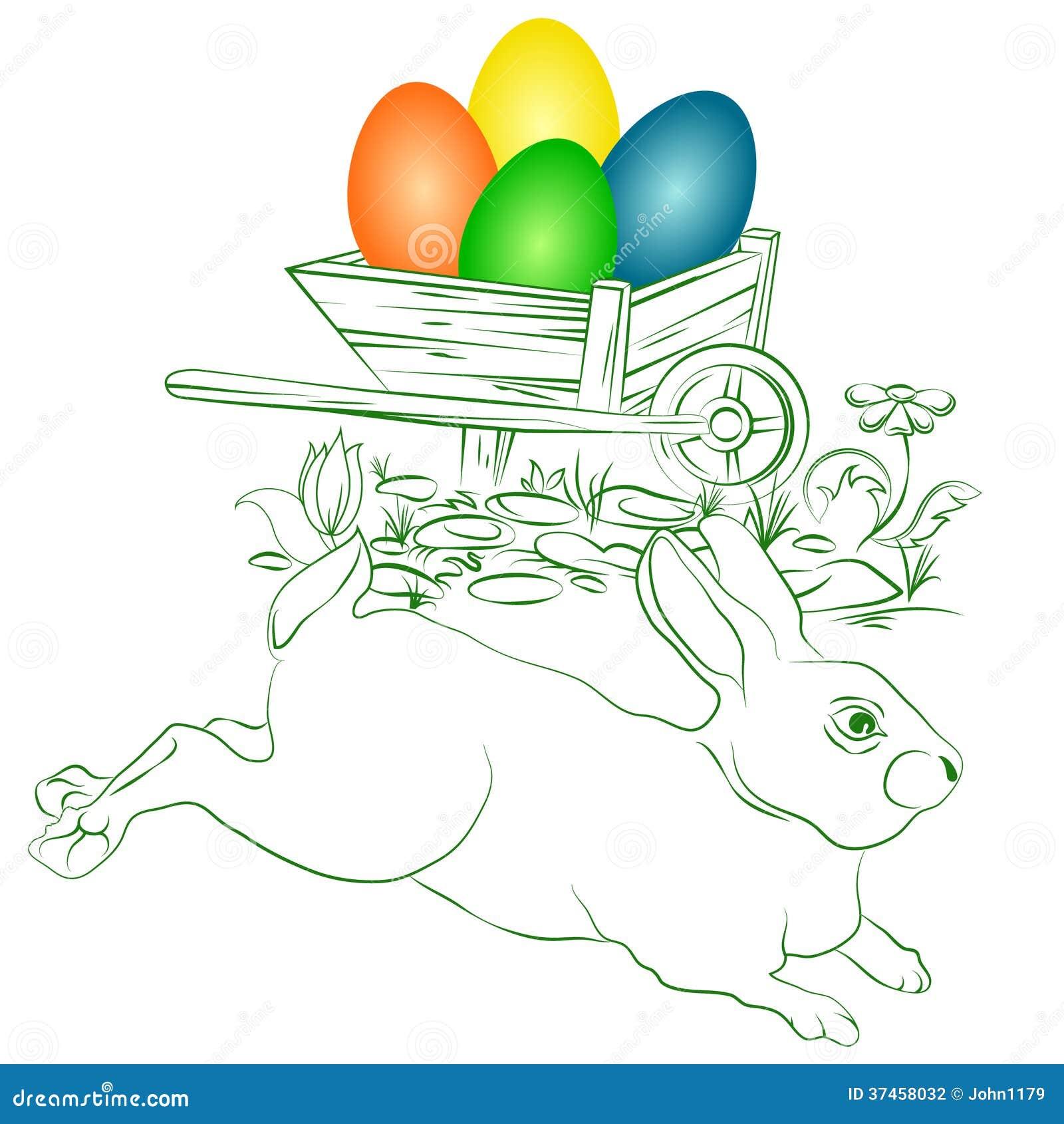 Paaseieren en konijntje