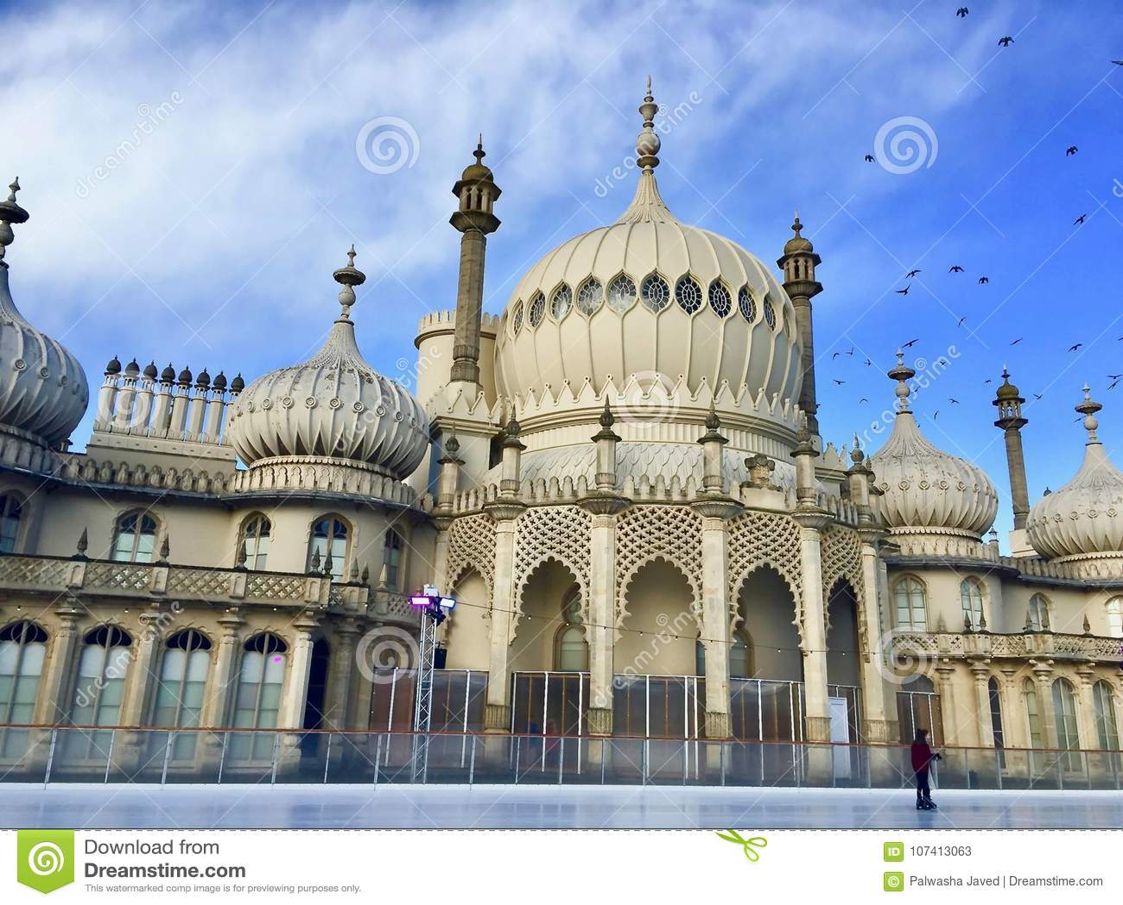 Pabellón real en Brighton en Sussex del este en el Reino Unido