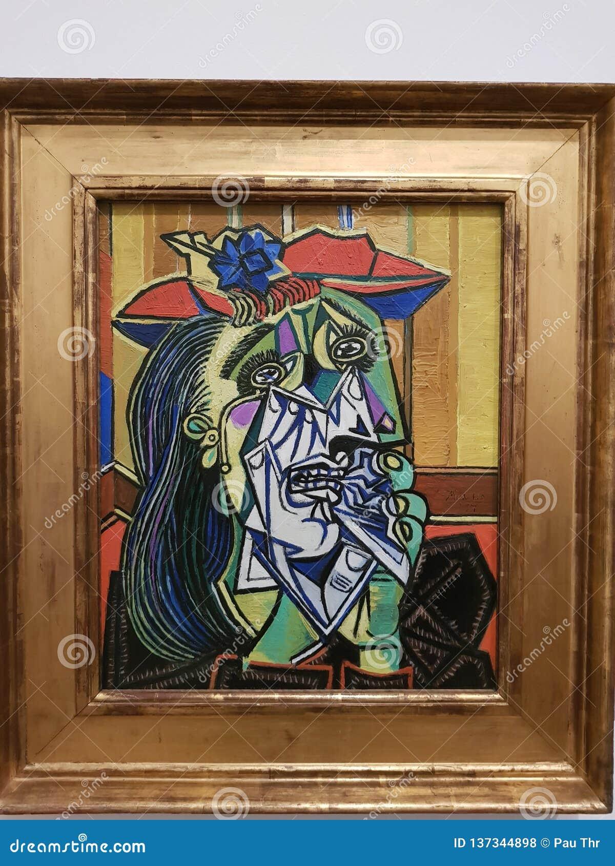 Pablo Picasso, kobieta płacz