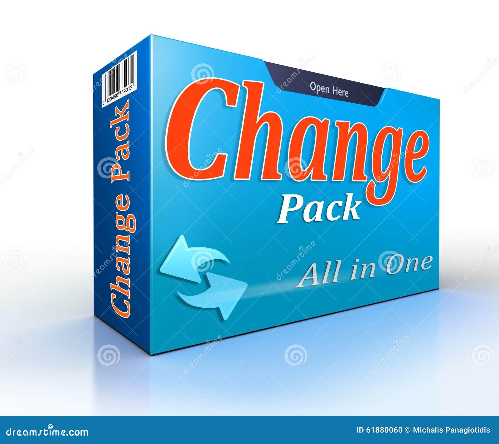 Pacchetto concettuale di offerta del pacchetto di cambiamento