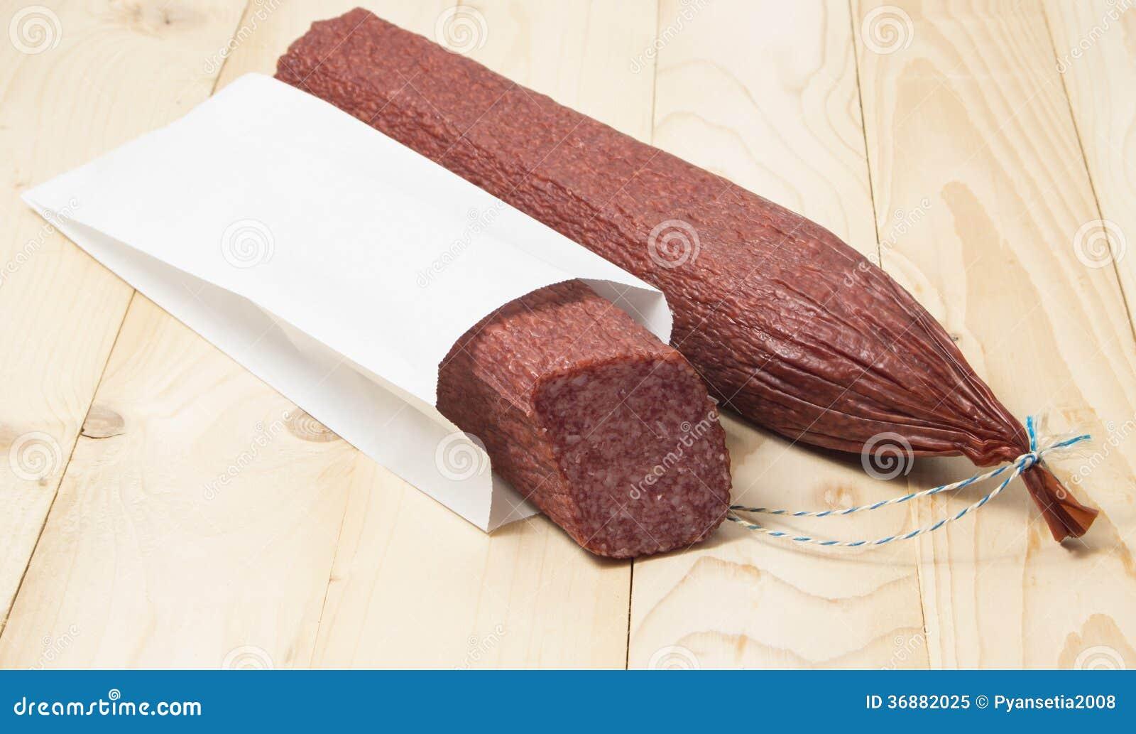 Download Pacchetto del salame. immagine stock. Immagine di gourmet - 36882025