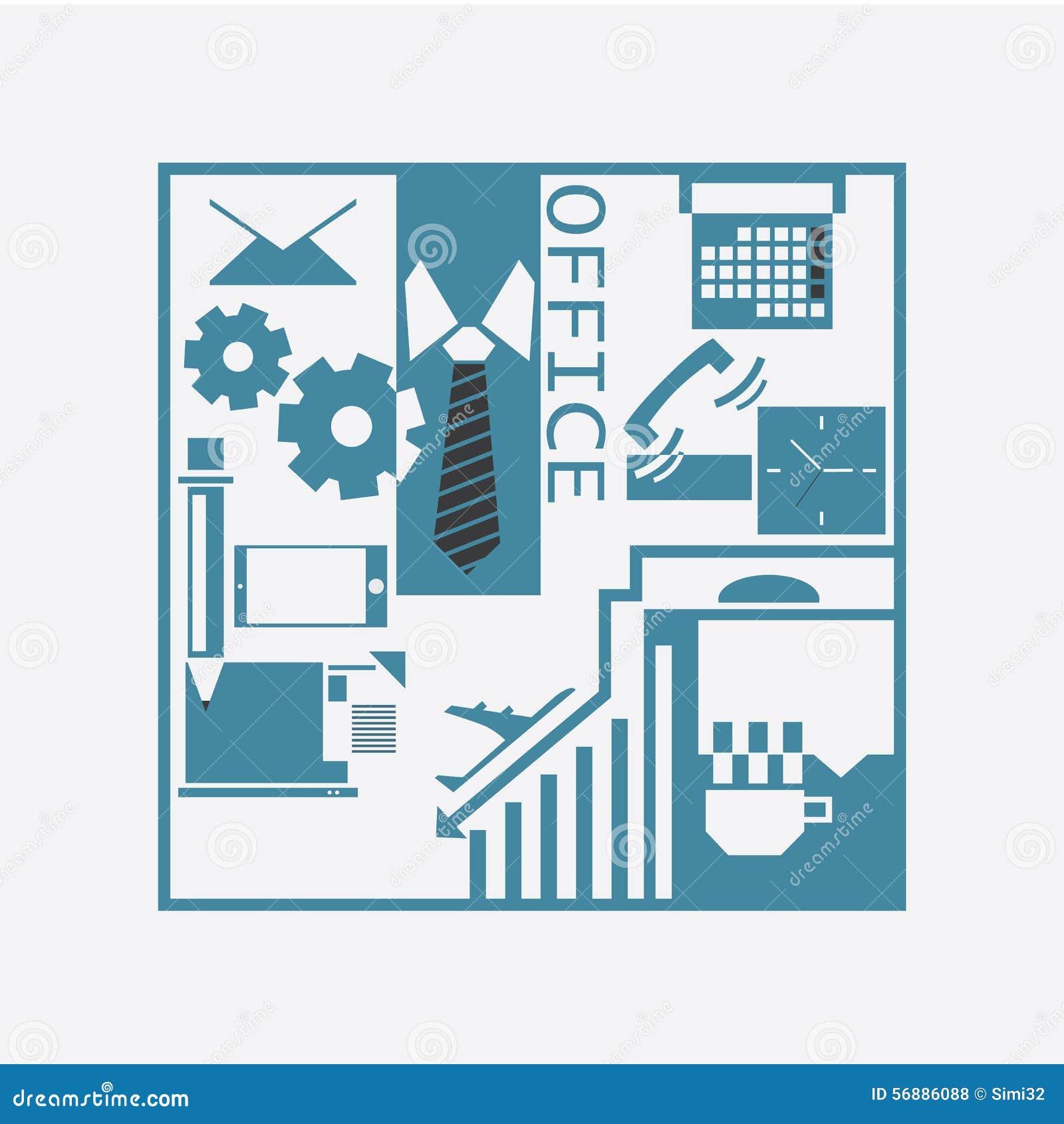 Pacchetto dell ufficio, concetto di affari