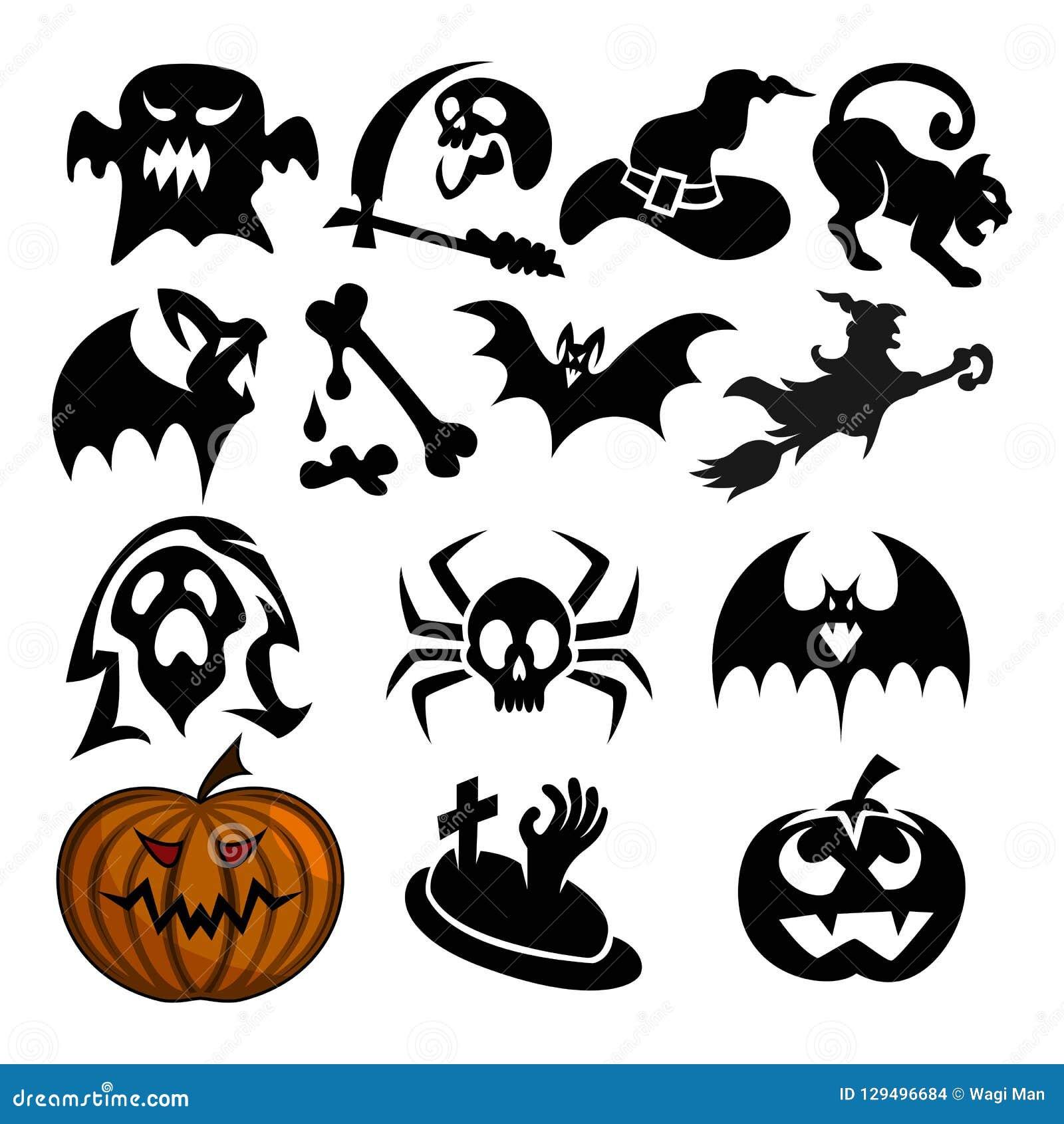 Pacchetto di attributo di Halloween, un pacchetto spettrale di attributo di Halloween per gli attributi di Halloween