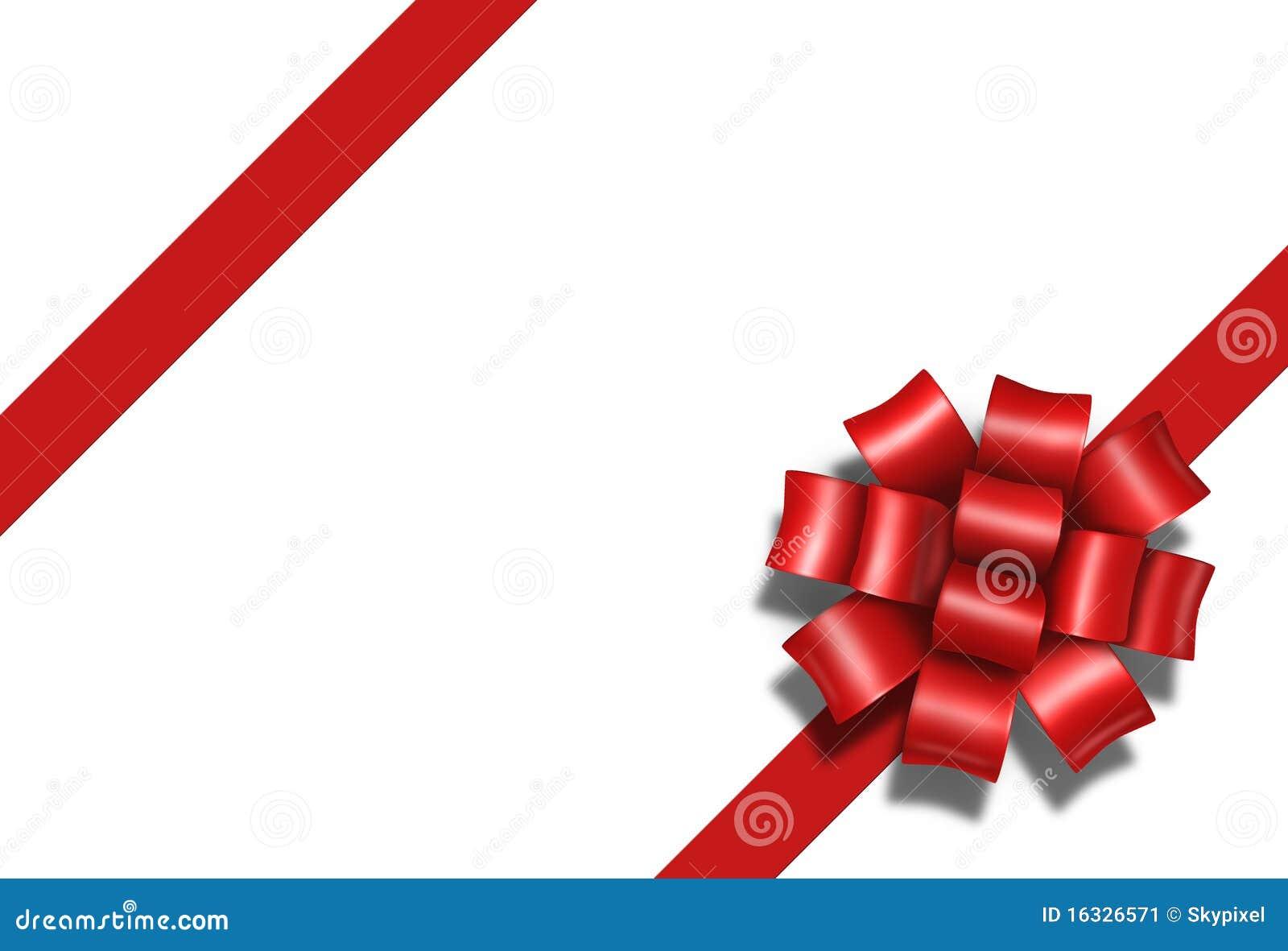 Pacchetto Rosso Diagonale A Della Casella Del Presente Del